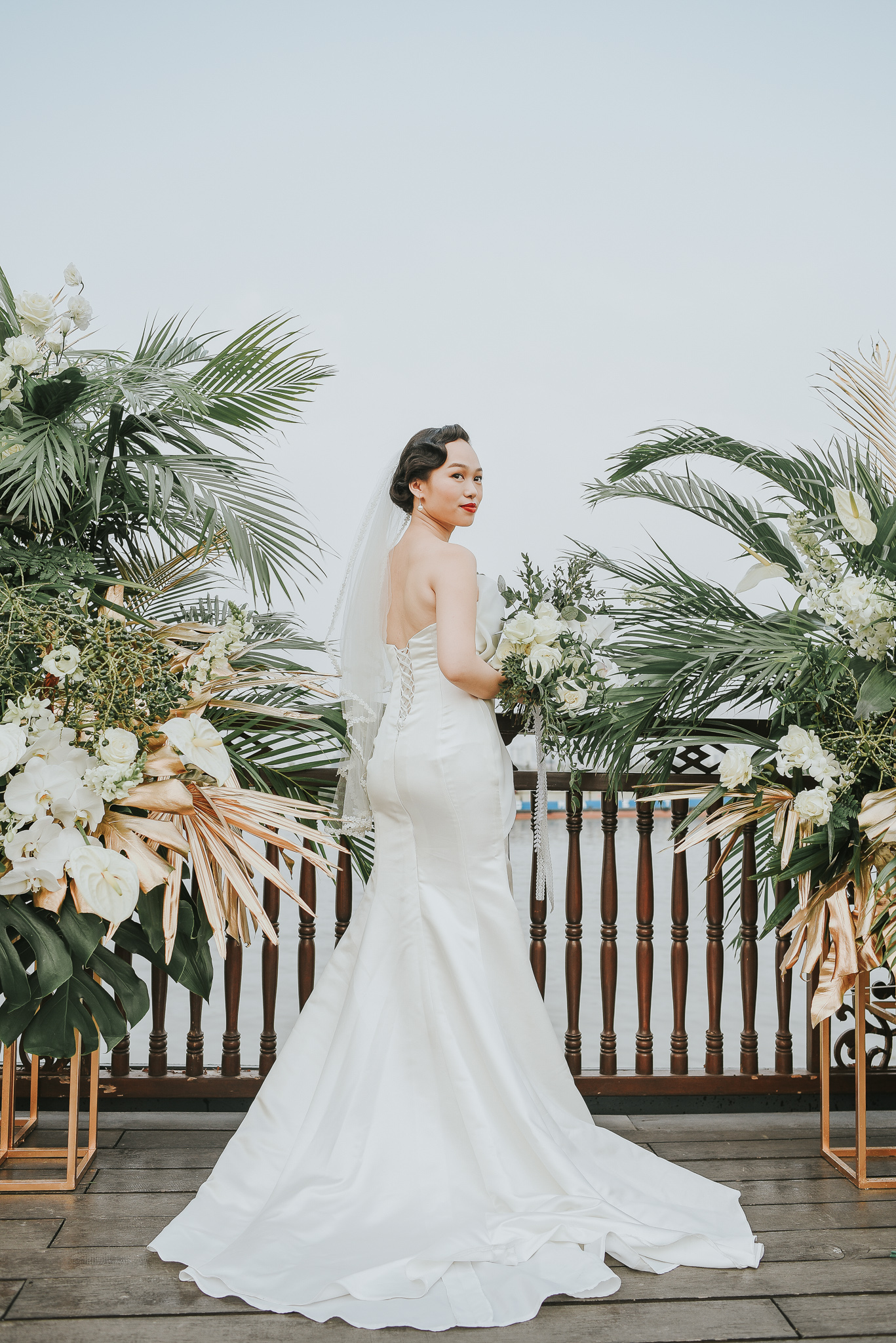 - Clients: Le Phi & Thomas Andre Planner: Giang Bui, in collaboration with Xuan Hoang from Meraki Wedding Planner. Concept: The F LabCoordination: The F Lab & Meraki Wedding Planner Decoration: Home Garden Venue: Bonsai Cruise Photo: Nguyen Thanh Luan Wedding dress: IDY Wedding MUA: Tran Quoc Thang