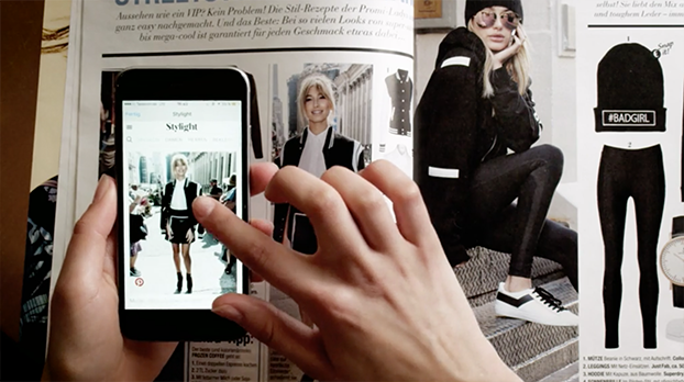 Fashion Mag Hijack // Stylight   Serviceplan Hamburg & Serviceplan Munich   Shazam's visual recognition functionally was used to create a revolutionary online shopping experience. In real time, customers could scan the page and make a purchase. Simple, fast and seamless.