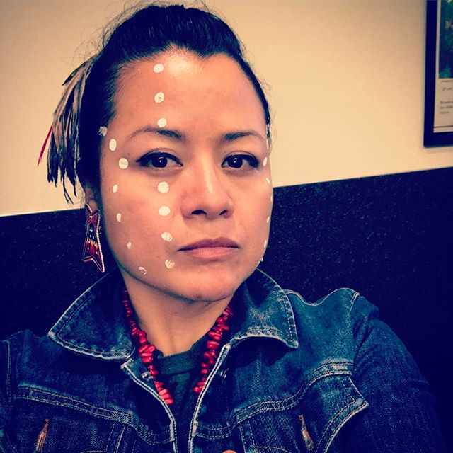 Dancing feeds my spirit, when I put my feathers and face paint on- you can see a glimpse of it.. #warriorwoman #NativeLife #IndigenousWoman #mexika #Aztec #MyIndigenousLife #theafterphoto