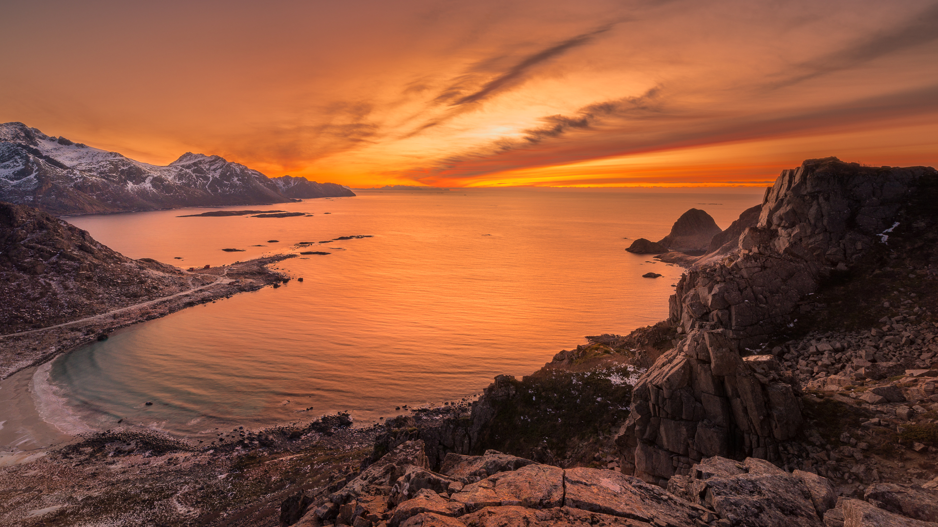 """Way to Hovden - Sunset   """"In today's rush we all think too much, seek too much, want too much and forget about the joy of just being"""" Eckhart Tolle"""