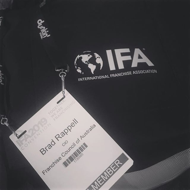 Registered and ready to go!! Very proud to be representing the Franchise Council of Australia as well as Franchising1st in Las Vegas. Looking forward to @garyvee #francouncilaus #fca #franchising1st #positivefranchising #ifa2019