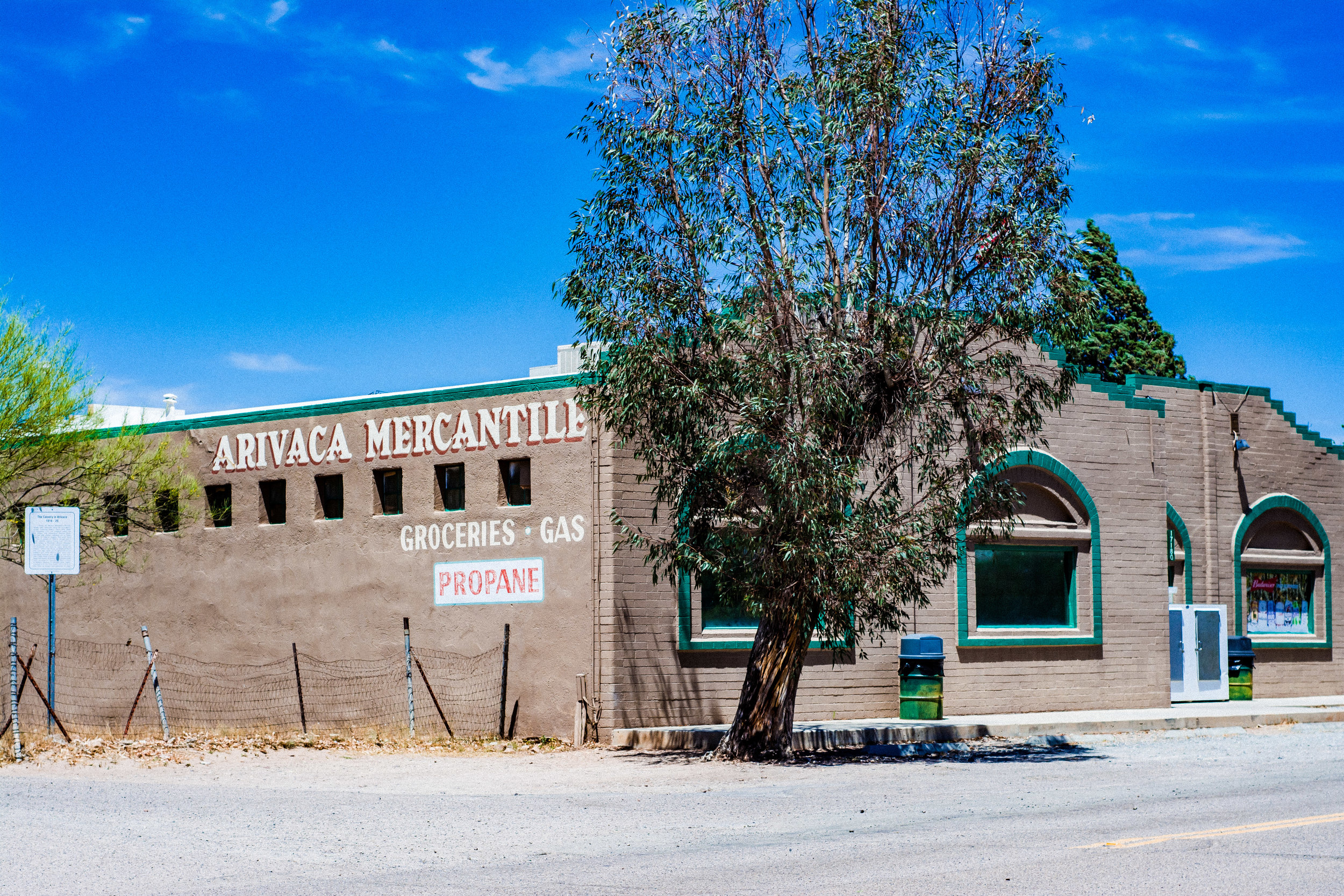 Arivaca Mercantile - 17180 W Arivaca RdArivaca, AZ 85601(520) 398-2702Open 7 DaysSunday 8AM–6PMMonday- Friday 7AM–7PM