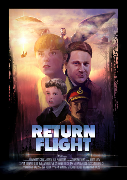 RETURN FLIGHT - An embittered and tempestuous teenager quietly grapples with the year-long disappearance of her veteran test pilot father, she wants nothing more than to put it all behind her. However, her inquisitive little brother, forever optimistic refuses to give up hope of his return. When they spot a figure plummeting from the sky, the pair set out to investigate - and to their surprise - it's their father returned! However, he's different, unable to recall the past year and revealed to have astonishing flesh like wings. They decide to keep his return a secret and attempt to piece together the mystery. However, when their father begins to have seizures resulting in fragments of memory returning, a mystery that no one can prepare for begins to unravel. The family must work to reconcile while attempting to elude a dark military force encroaching on their rural town.A returnable serialised drama fit for SVOD.Press: FilmInk   IFIMDB