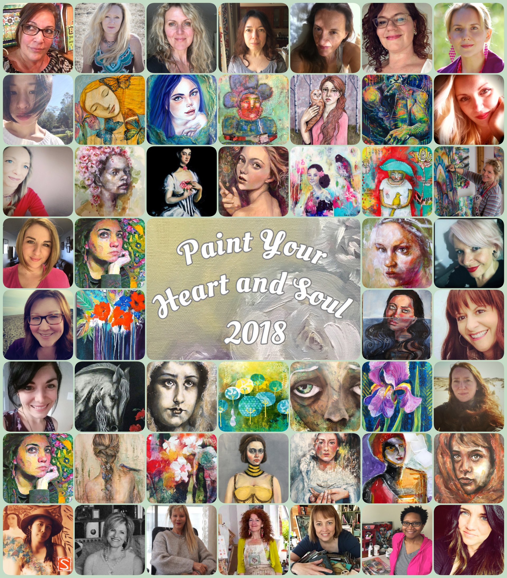 Paint Your Heart and Soul 2018 e-course. Great lineup of teachers! Click image for more info.