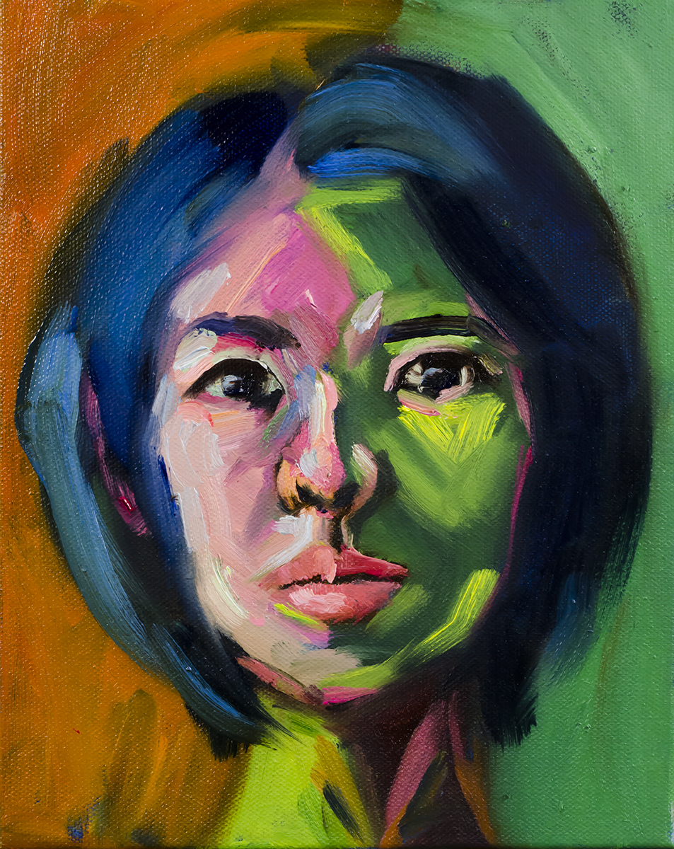 MINI FAUVE, by Lucy Chen, oil on stretched canvas.