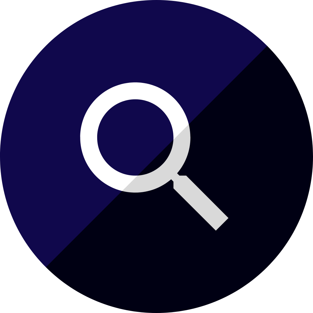 Magnifying glass icon, representing resources for healthcare staff on wound therapy