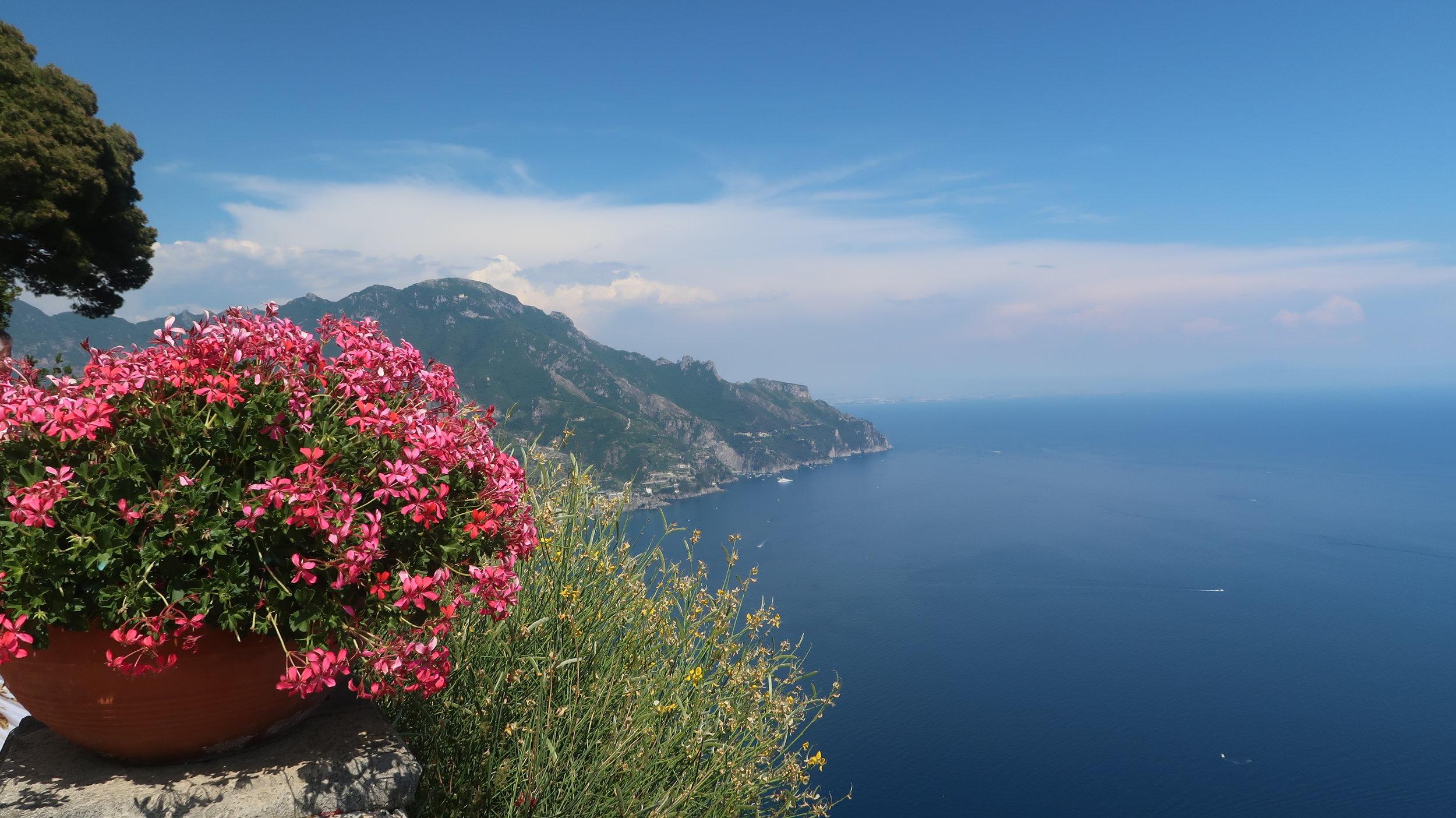 Photo taken from Villa Cimbrone in Ravello (on the Amalfi Coast, Italy).