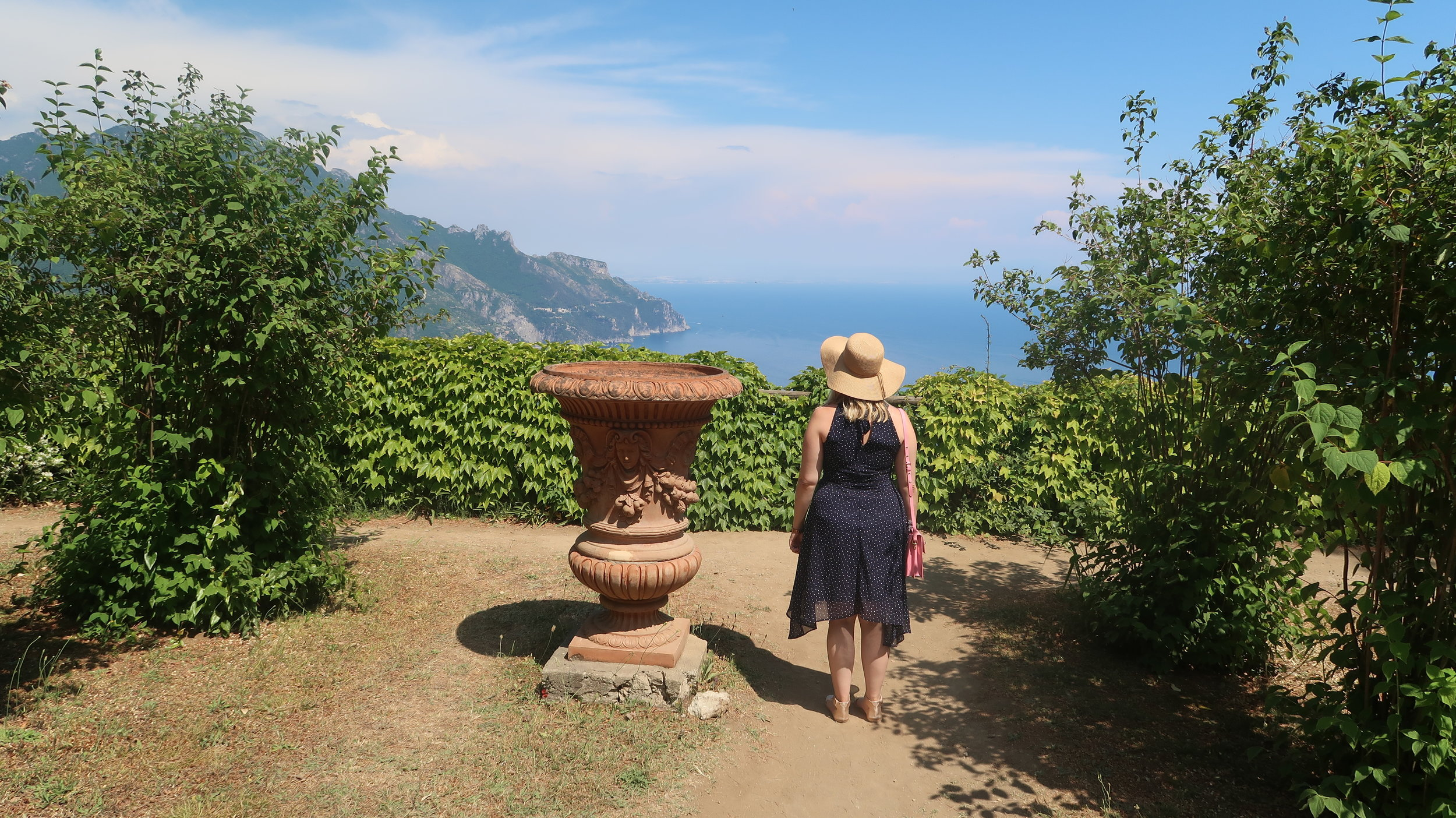 Appreciating the view at Villa Cimbrone in Ravello (Amalfi Coast, Italy).