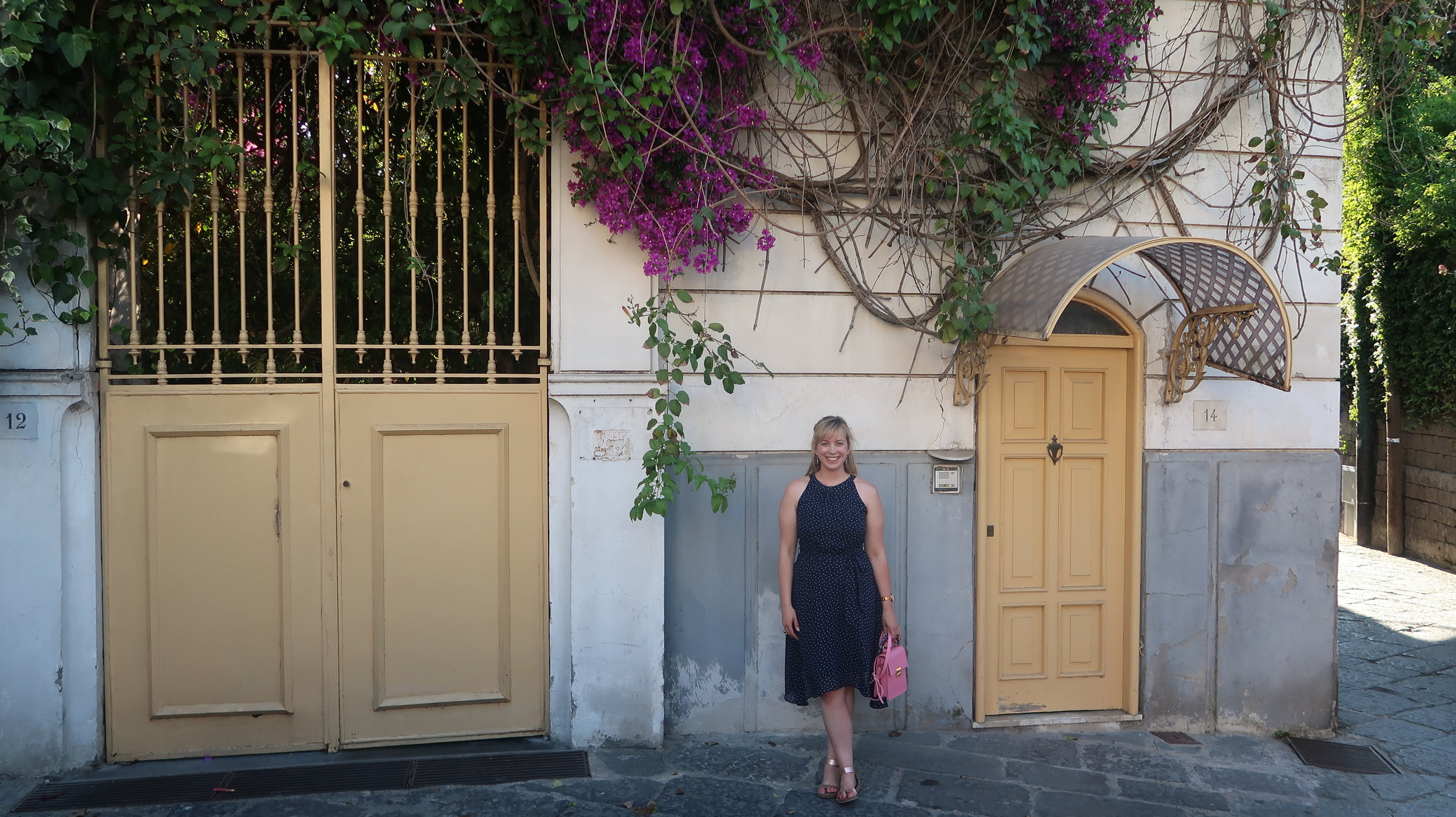 Photo taken in Sorrento on our walk from the marina to the city centre (Amalfi Coast, Italy).
