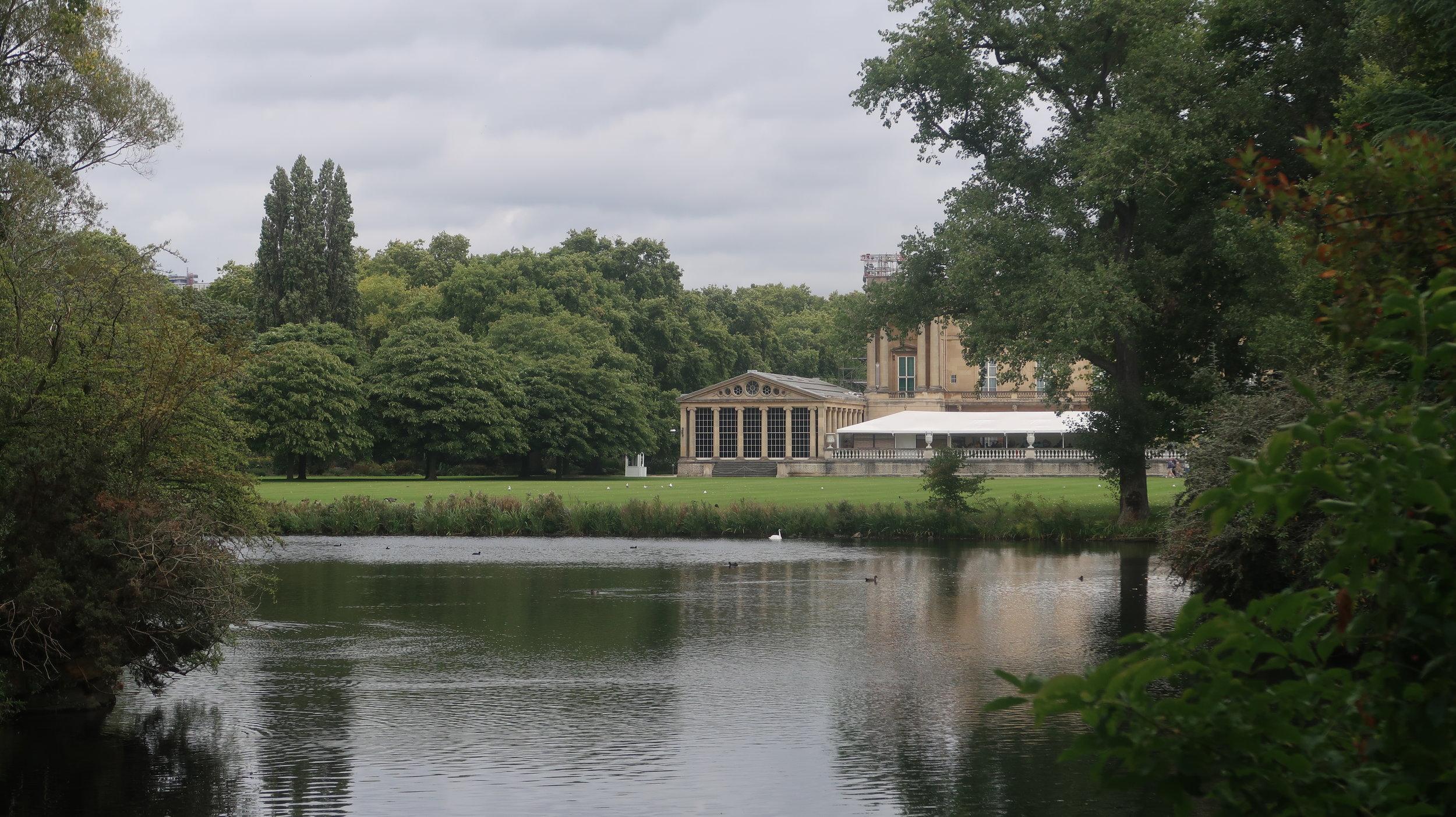 The old Buckingham Palace.