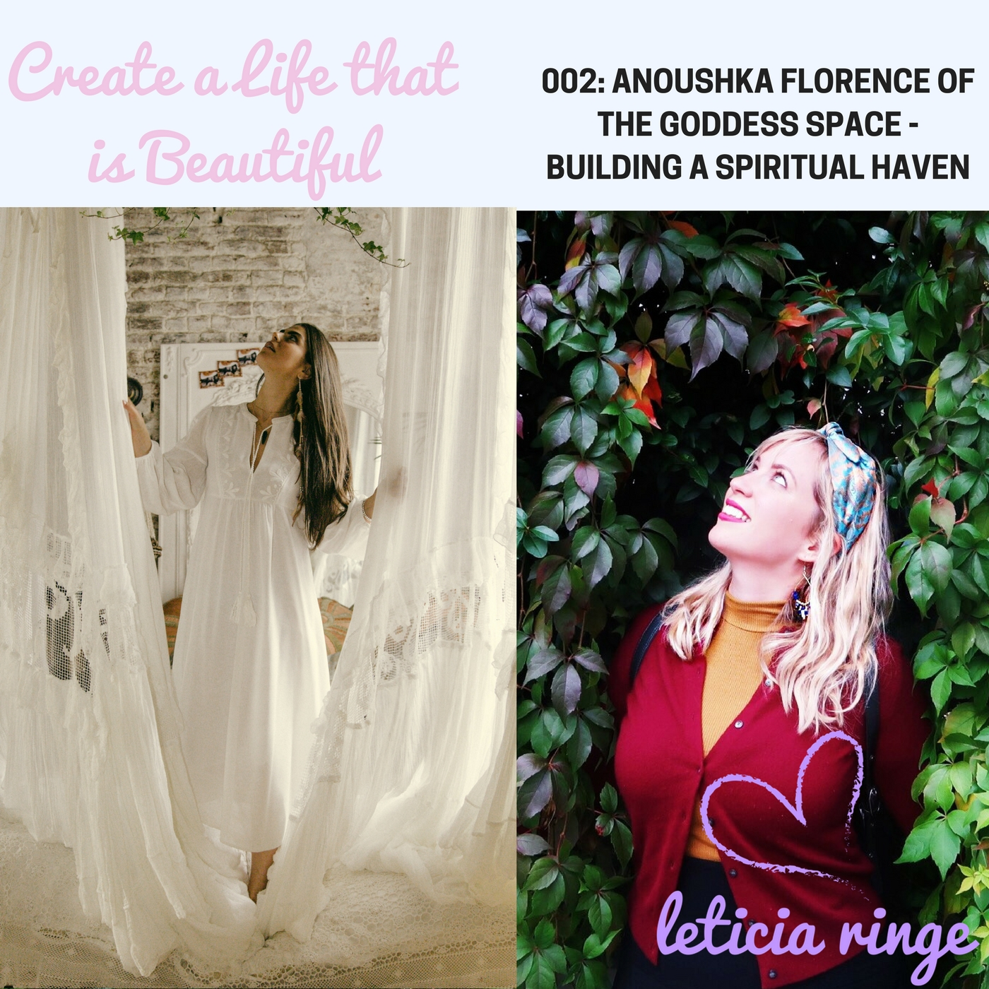 Anoushka Florence of The Goddess Space (photo on right by Ingrid of @cactus4)