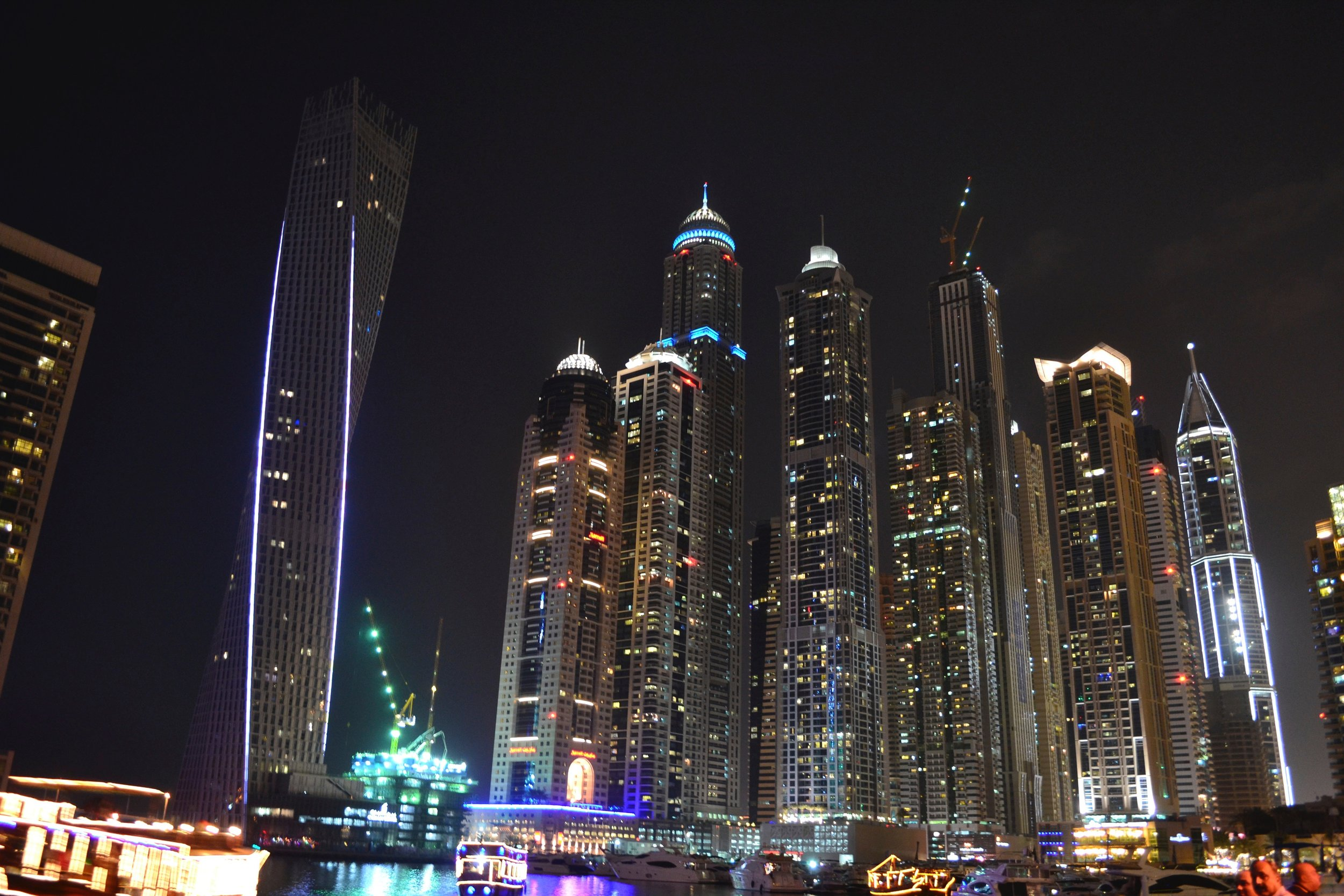 Dubai Marina in the United Arab Emirates