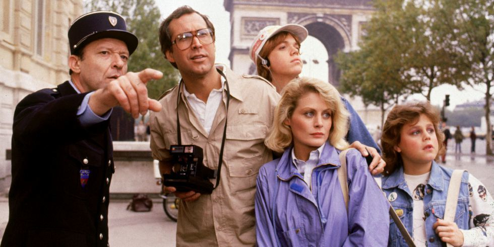 """The Griswolds in Paris...an example of the """"Sightseer Americanus"""" (""""National Lampoon's European Vacation, Warner Bros, 1985)"""
