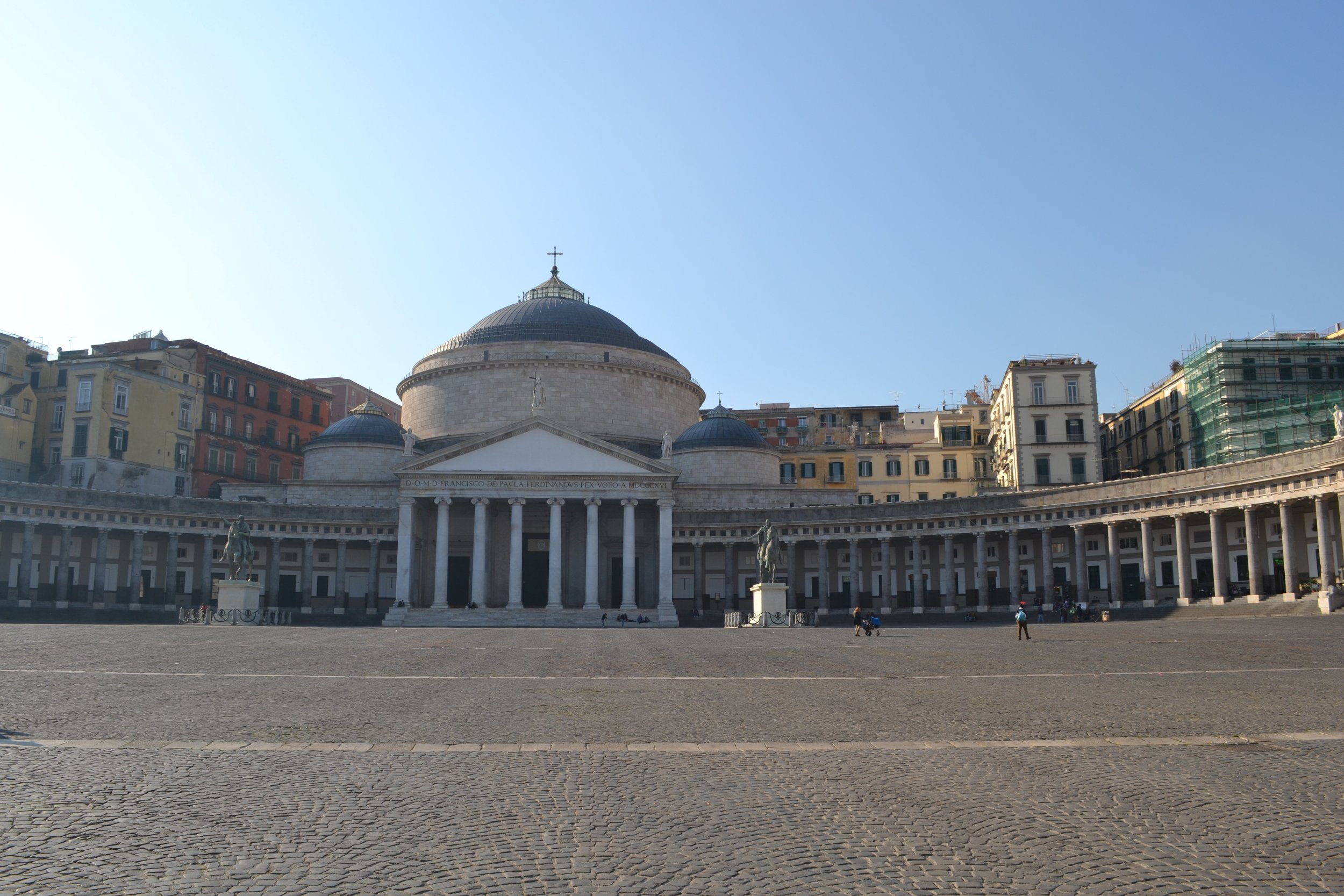 The Church of San Francesco di Paola in Piazza del Plebiscito