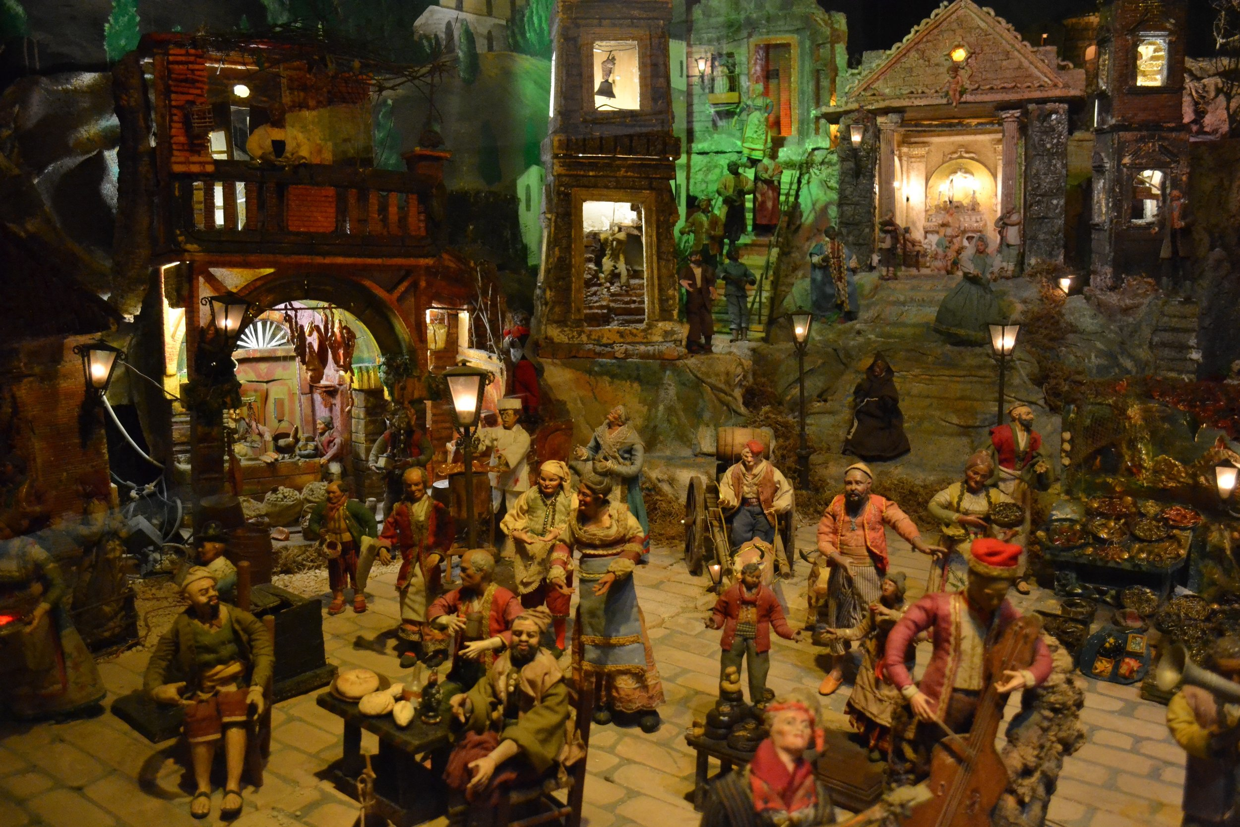 One of the famed Neapolitan presepio that depicts the Nativity within the context of 17th and 18th century Neapolitan life.