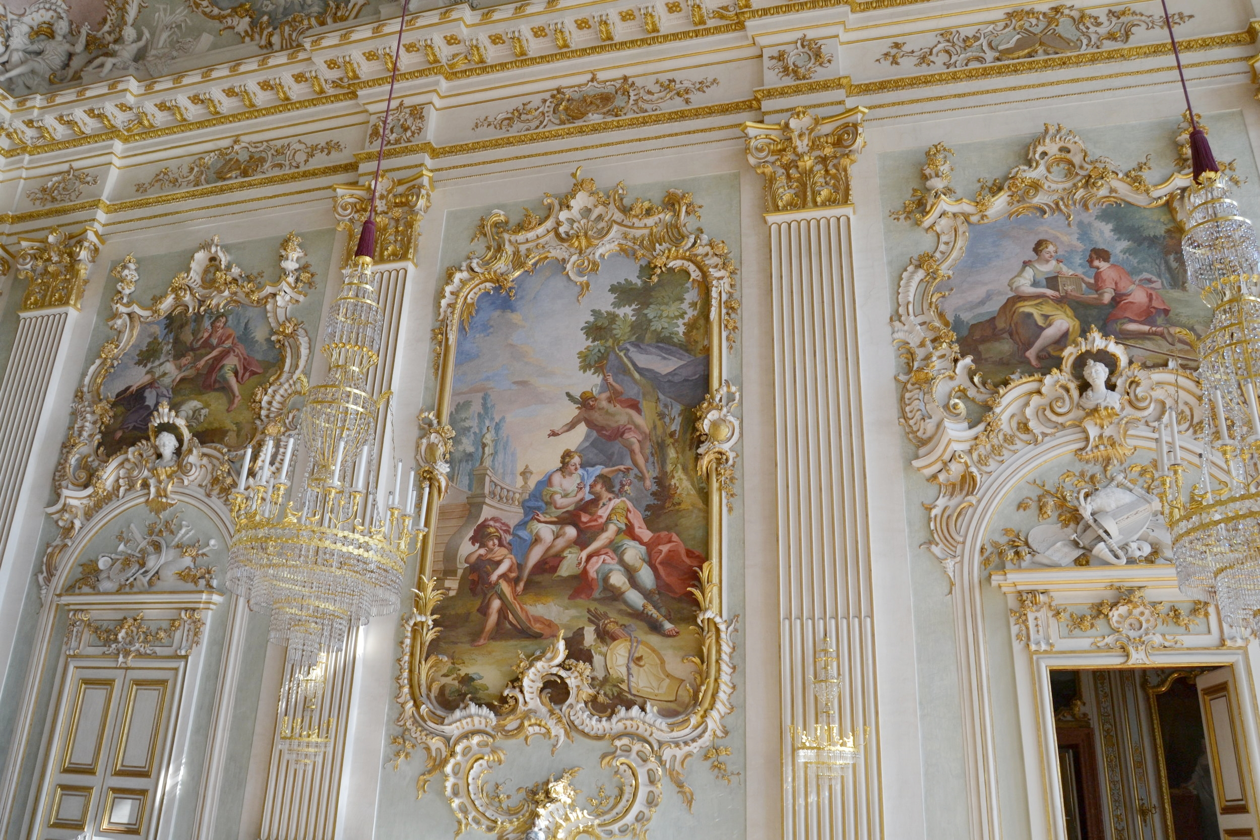 Paintings in the Great Hall of Nymphenburg Palace
