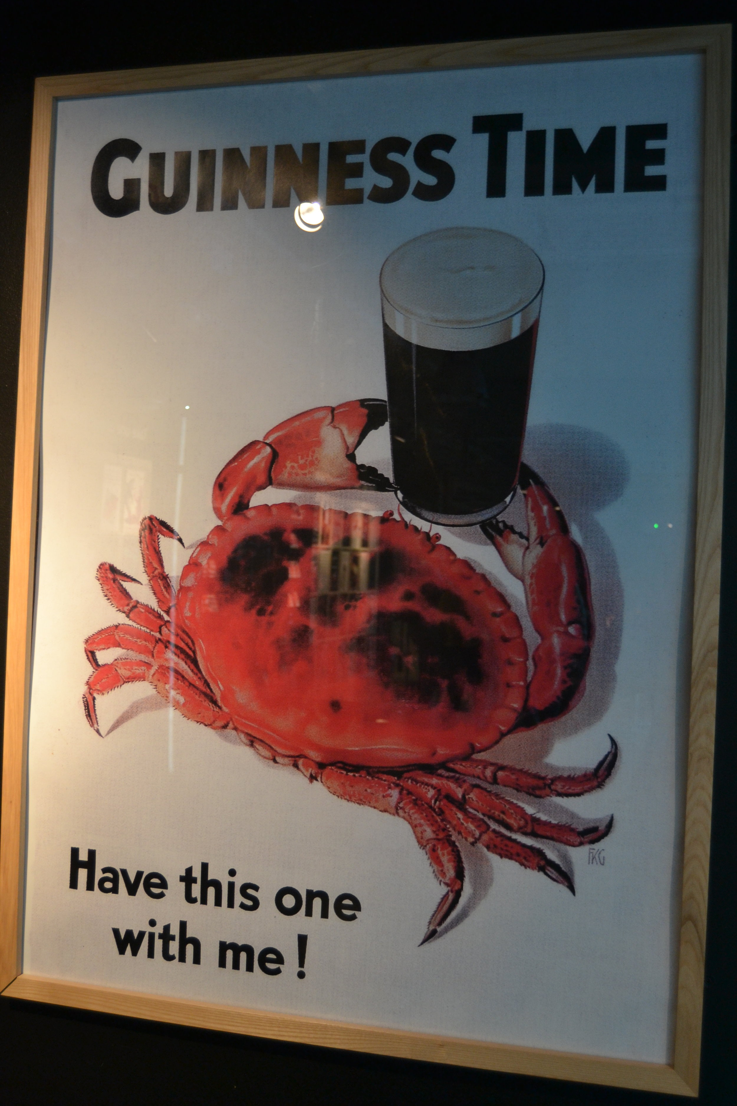 One of the many Guinness advertisements present in the Guinness Storehouse