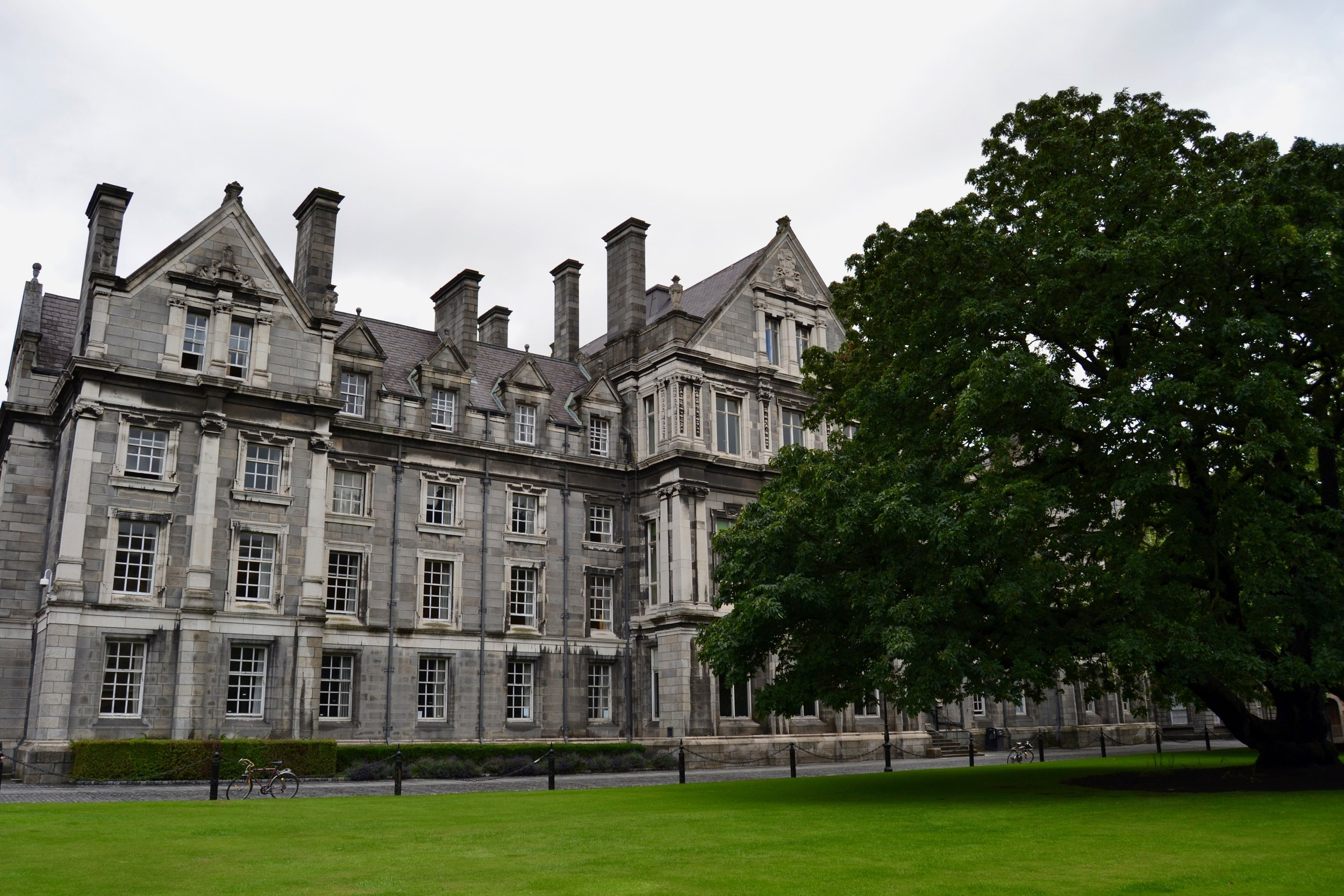 The Graduates Memorial Building on the grounds of Trinity College Dublin