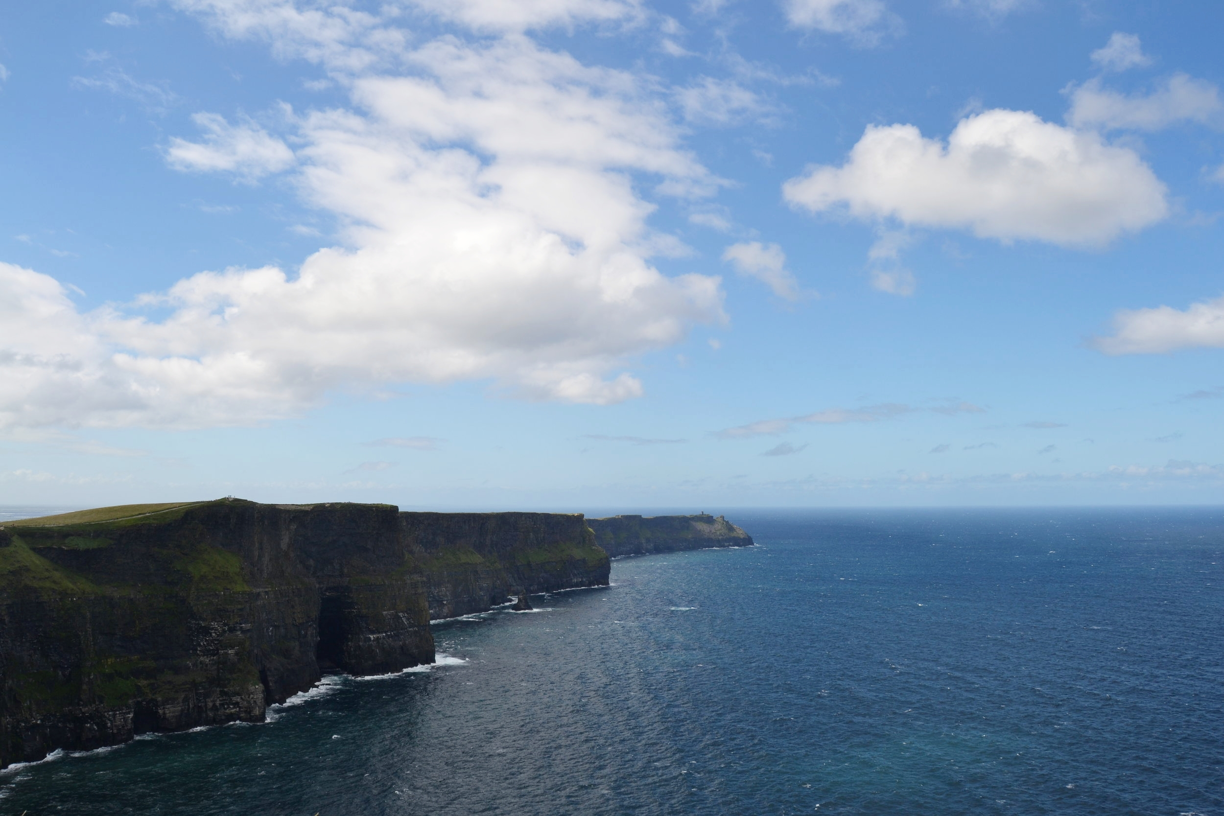 View of the Cliffs of Moher in western Ireland