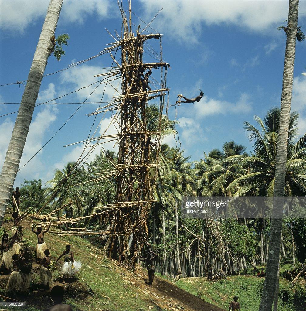 Tower Diving on Pentecost Island Vanuatu