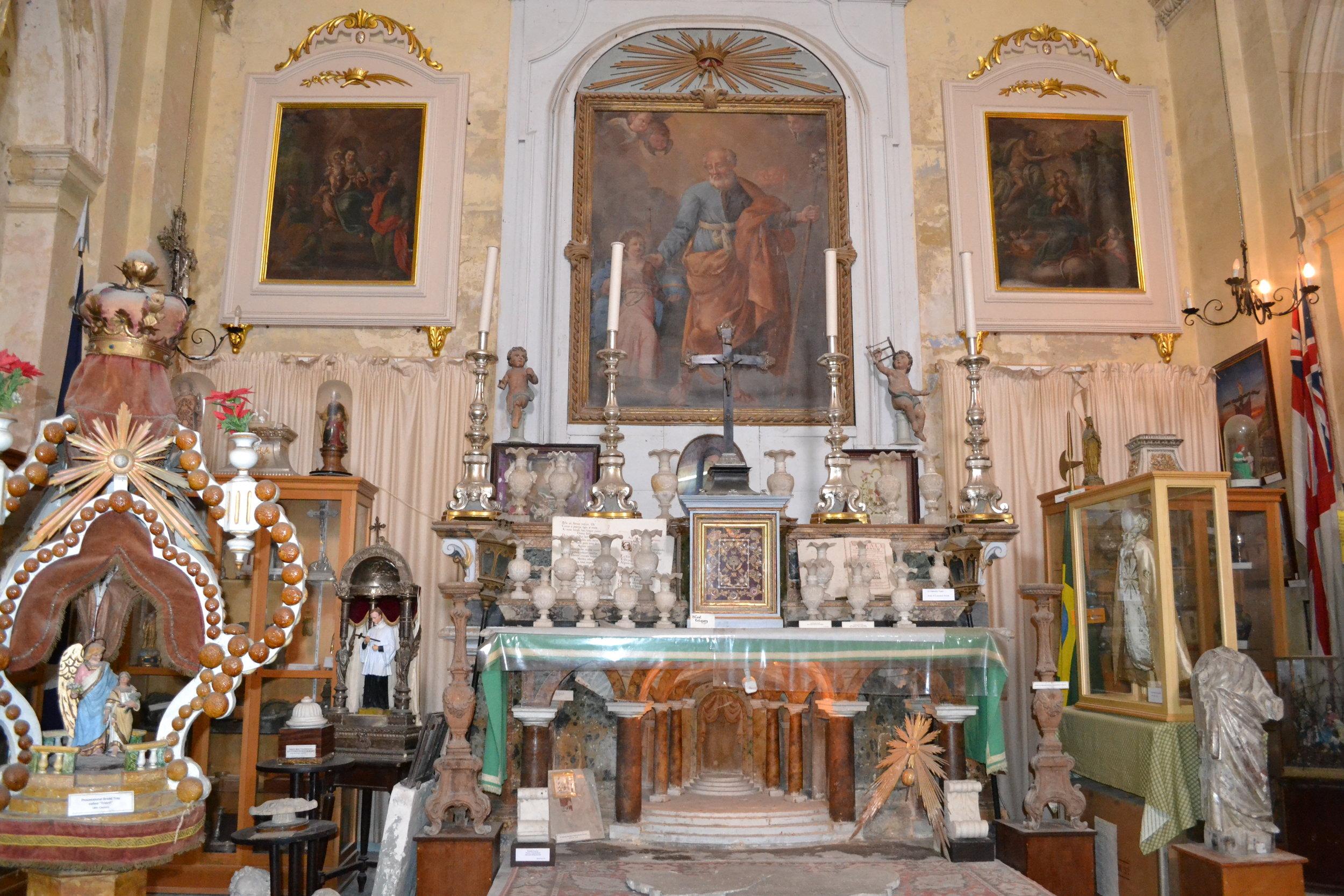 The St. Lawrence Church Museum in Vittoriosa (Birgu)