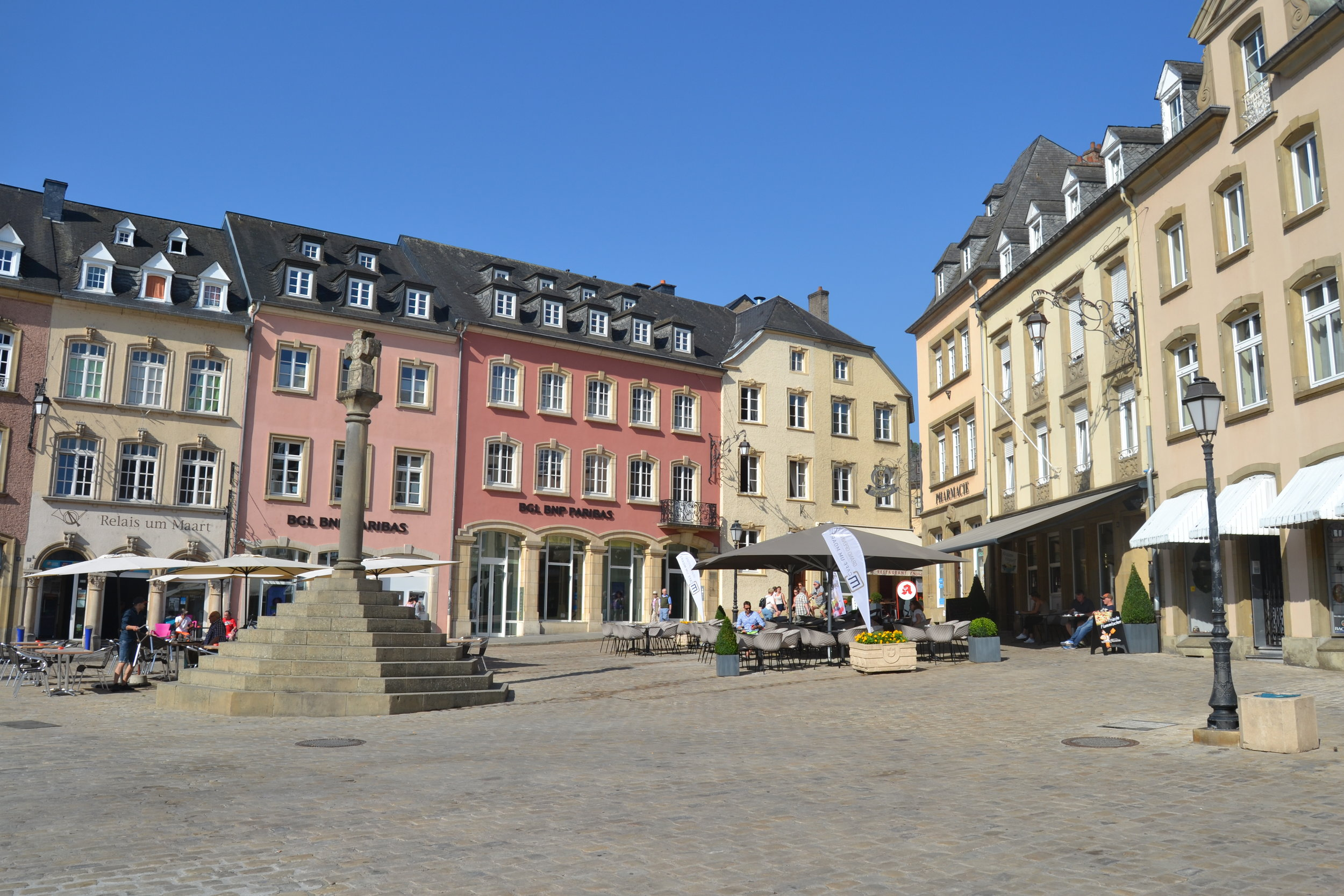 The town square of Echternach, Luxembourg