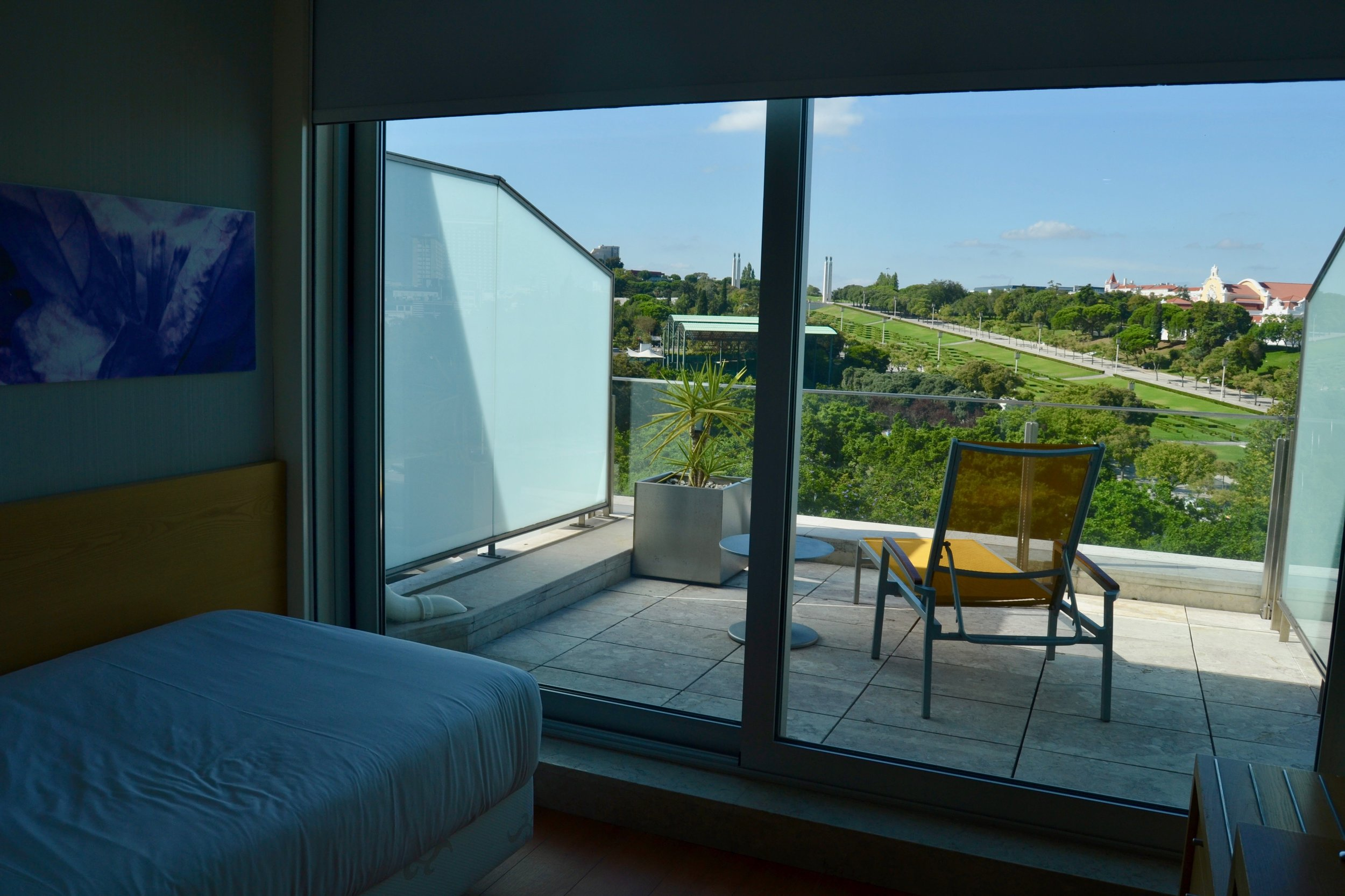 A view of my room from the top floor at the HF Fenix Garden Hotel