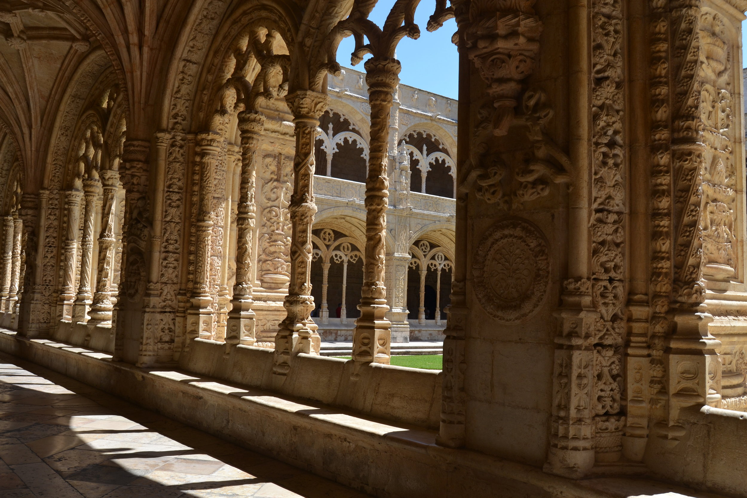 The cloister in the Monastery of St. Jerome (Jeronimos Monastery)