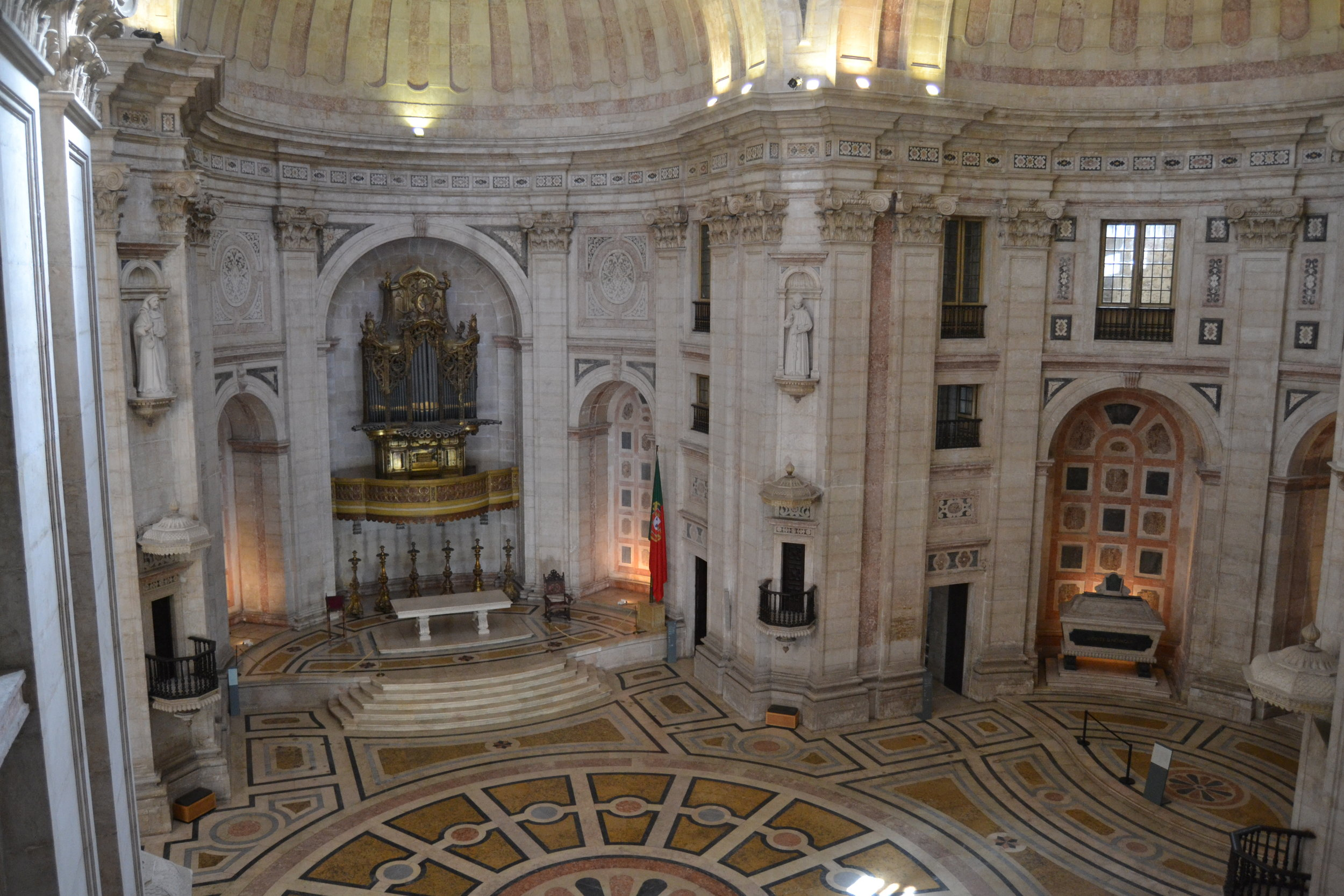 Interior of the National Pantheon (Church of San Engracia) looking toward the high altar
