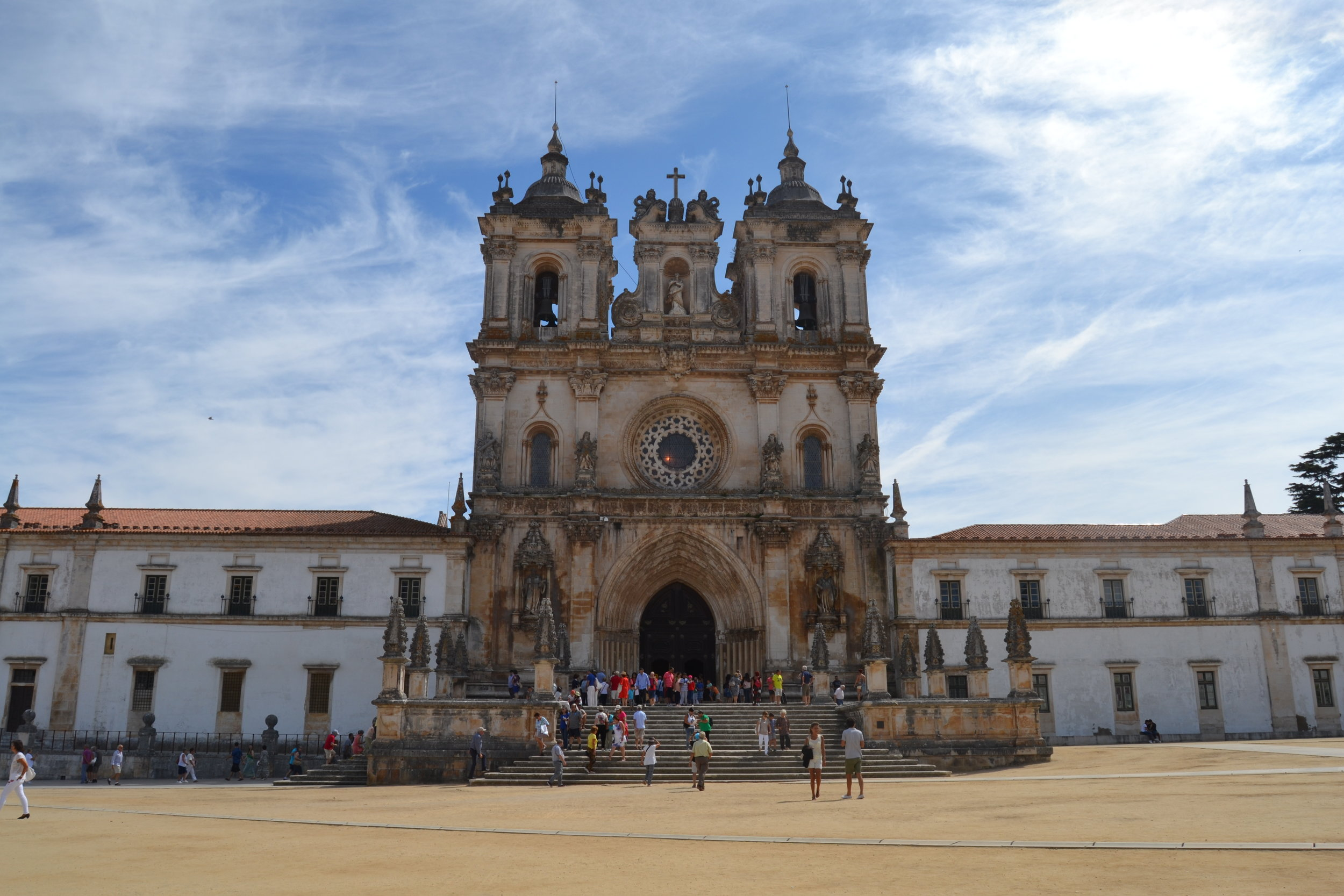 The exterior of Alcobaça Monastery