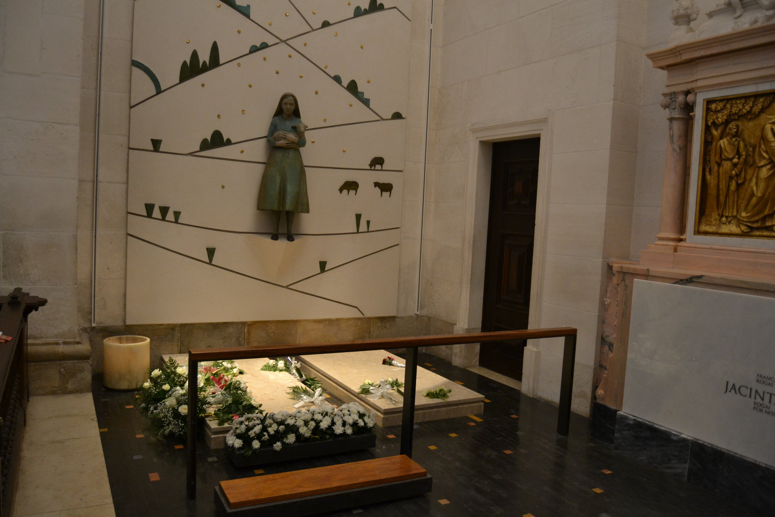 Tomb of two of the children (Lucia and Jacinta) who saw the apparition of the Virgin Mary in 1917