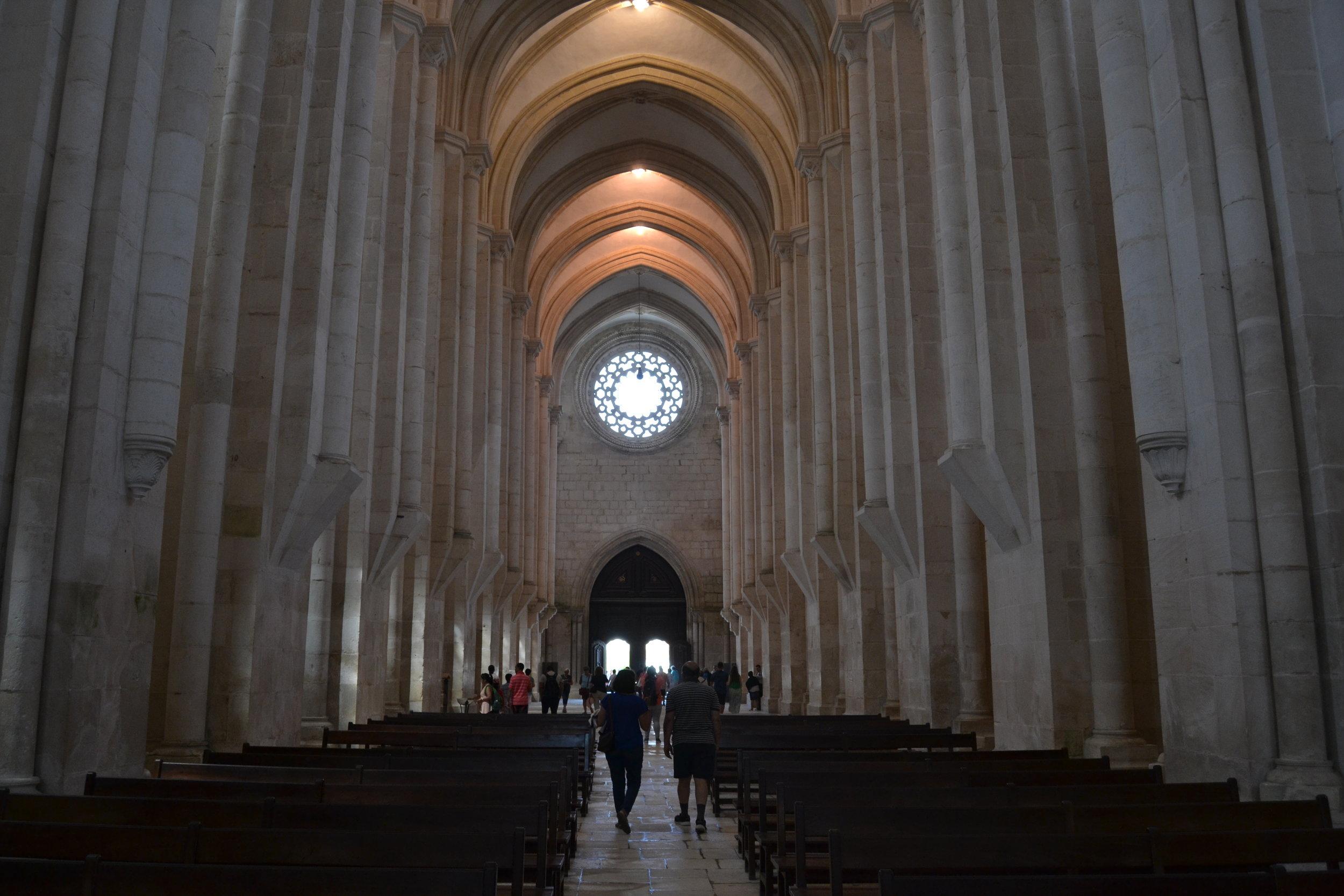 Interior of Alcobaca Monastery