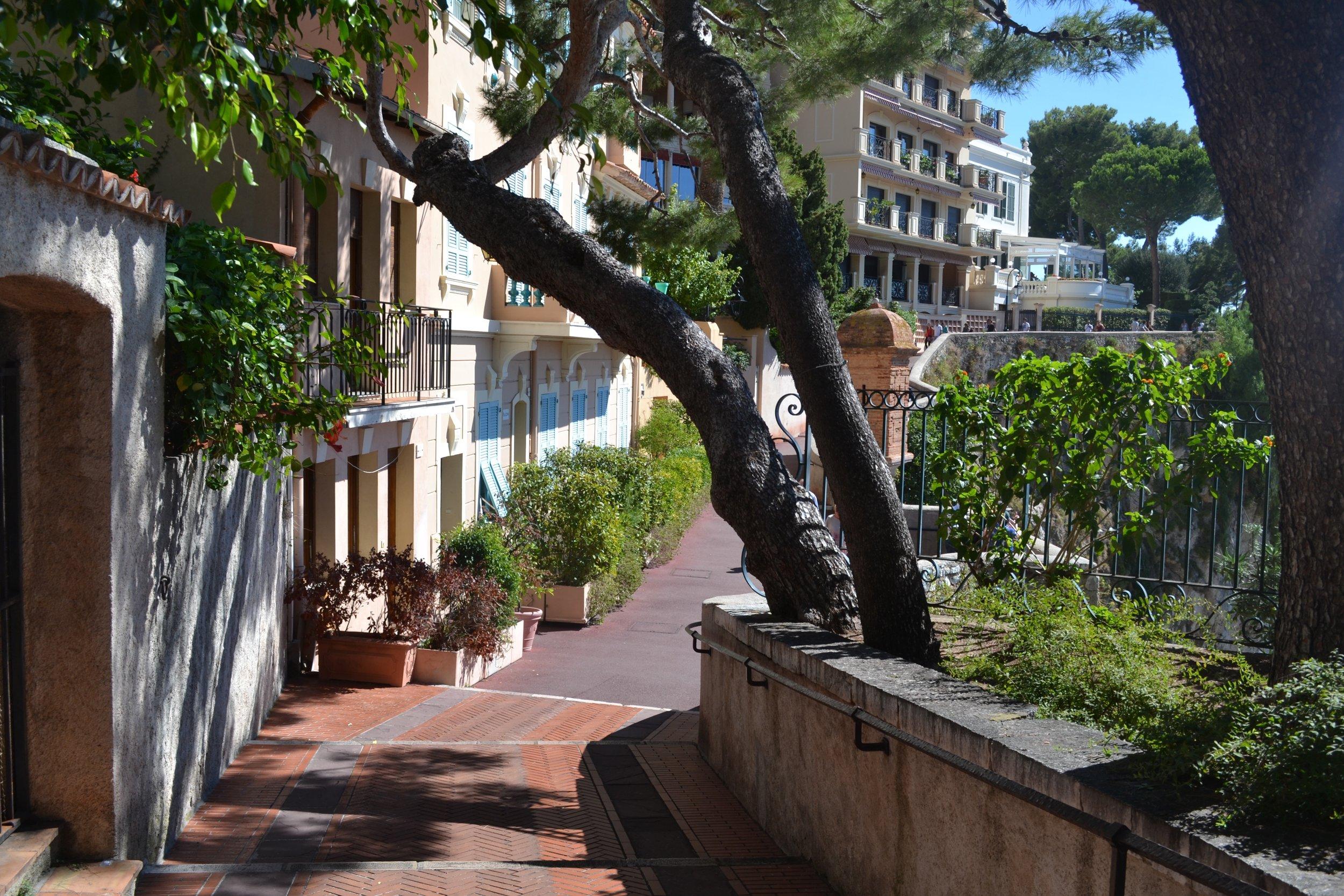 A quiet pedestrian street in Monaco-ville