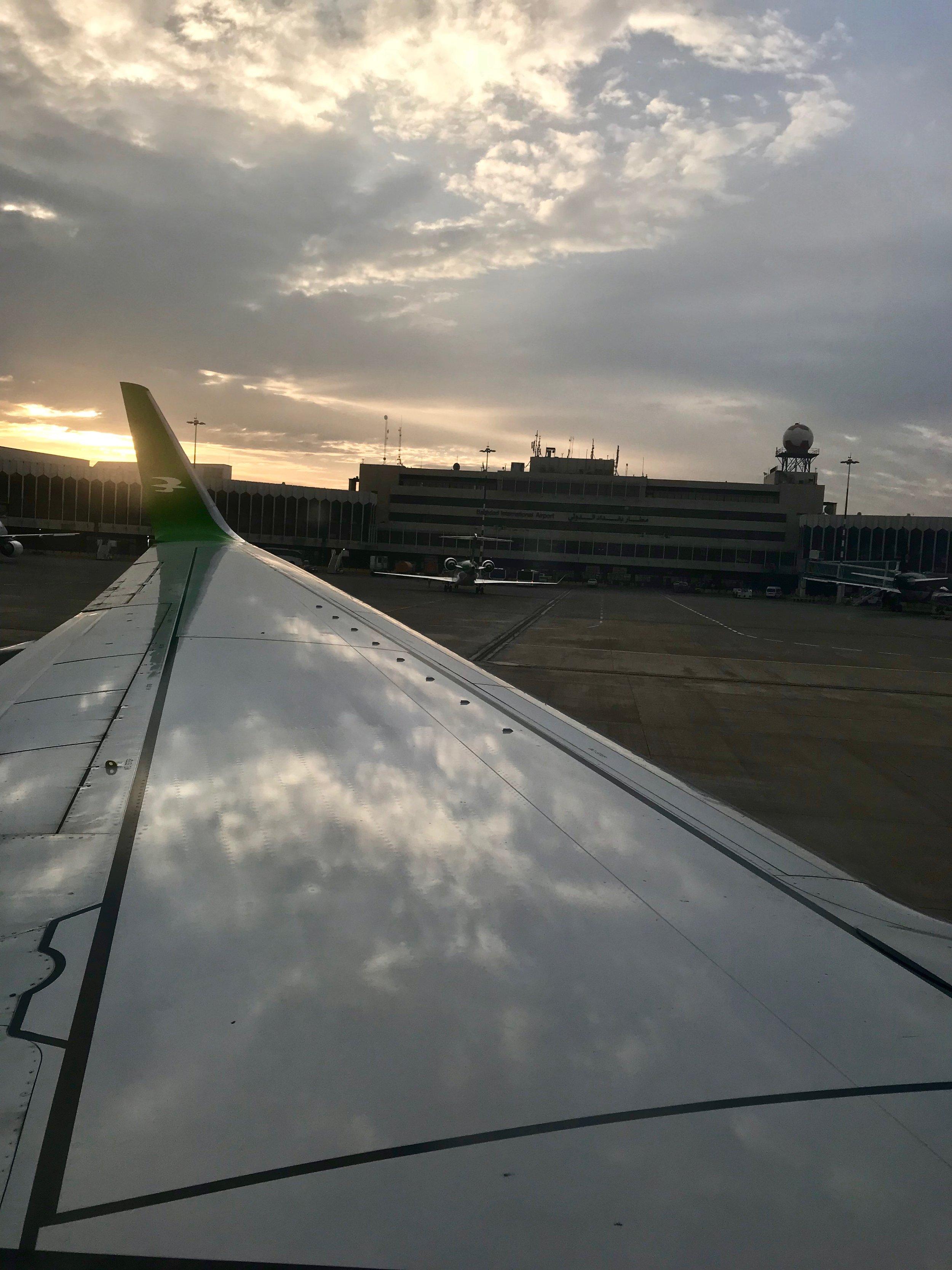 Arrival in Baghdad Iraq