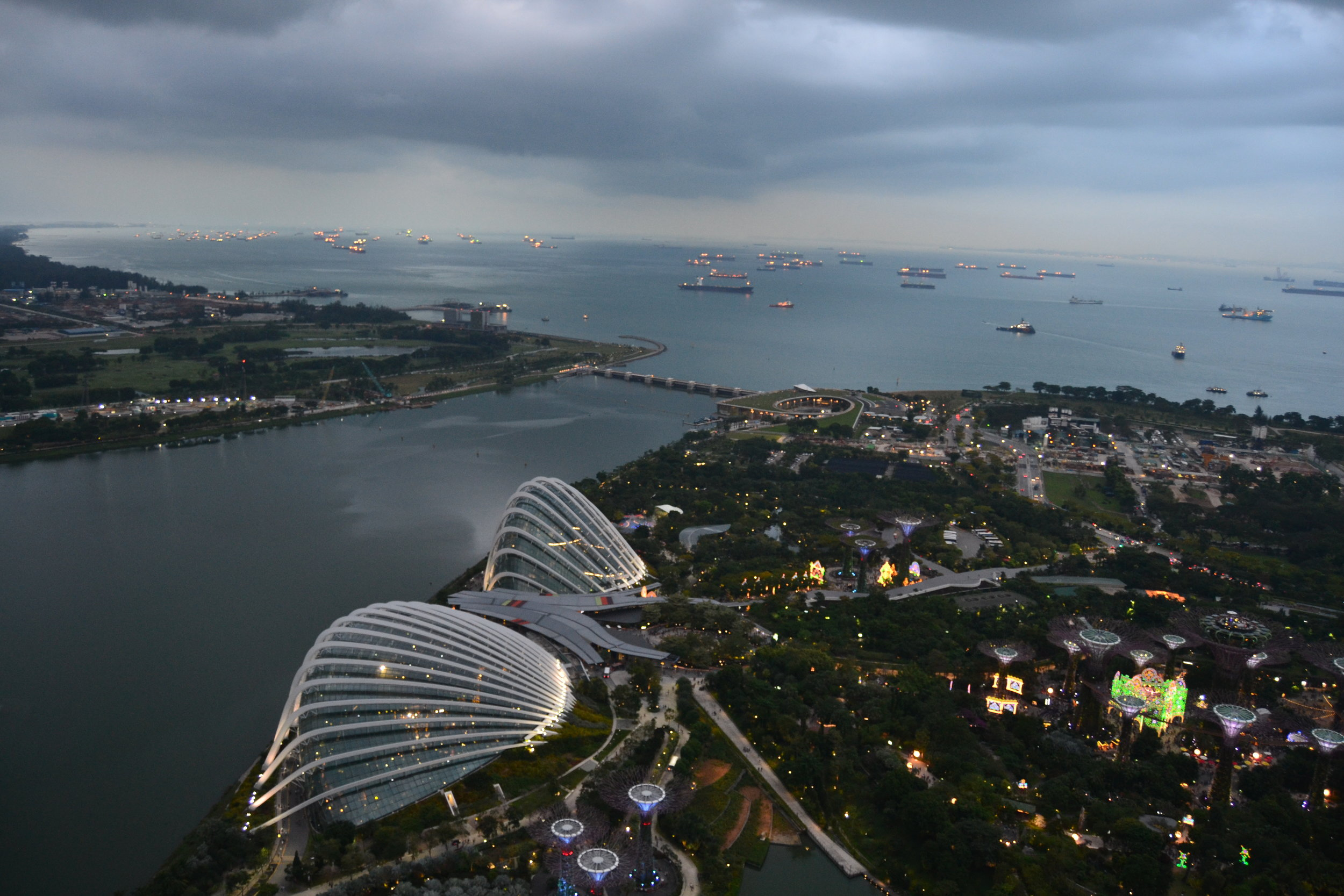 Gardens by the Bay with a view of the Cloud Forest Dome and Flower Dome