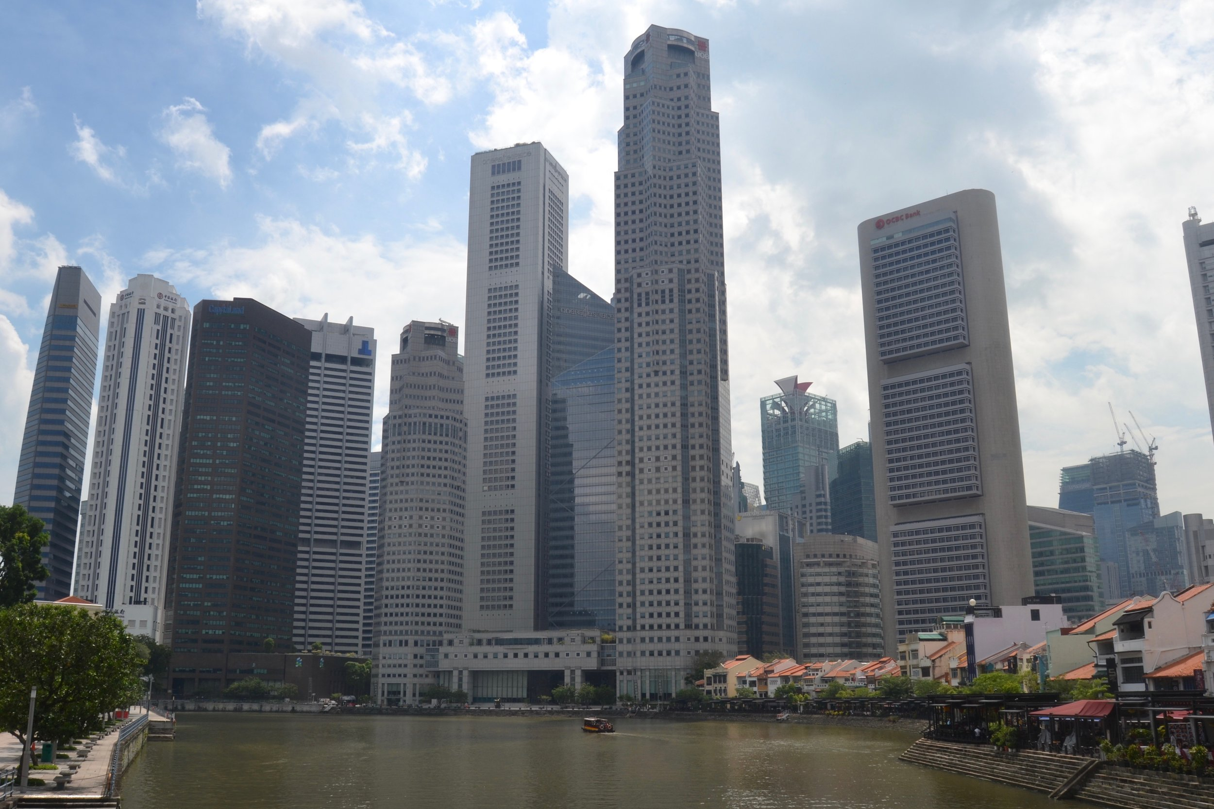 Downtown Singapore from the River