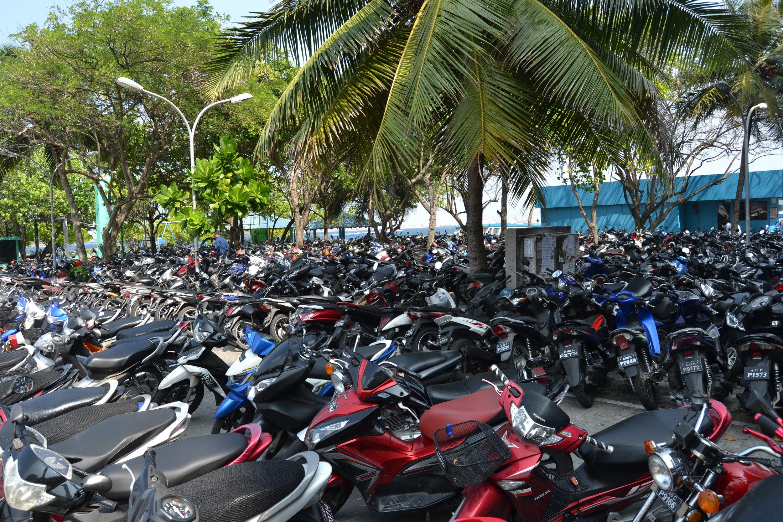 Motorbikes in Malé, Maldives