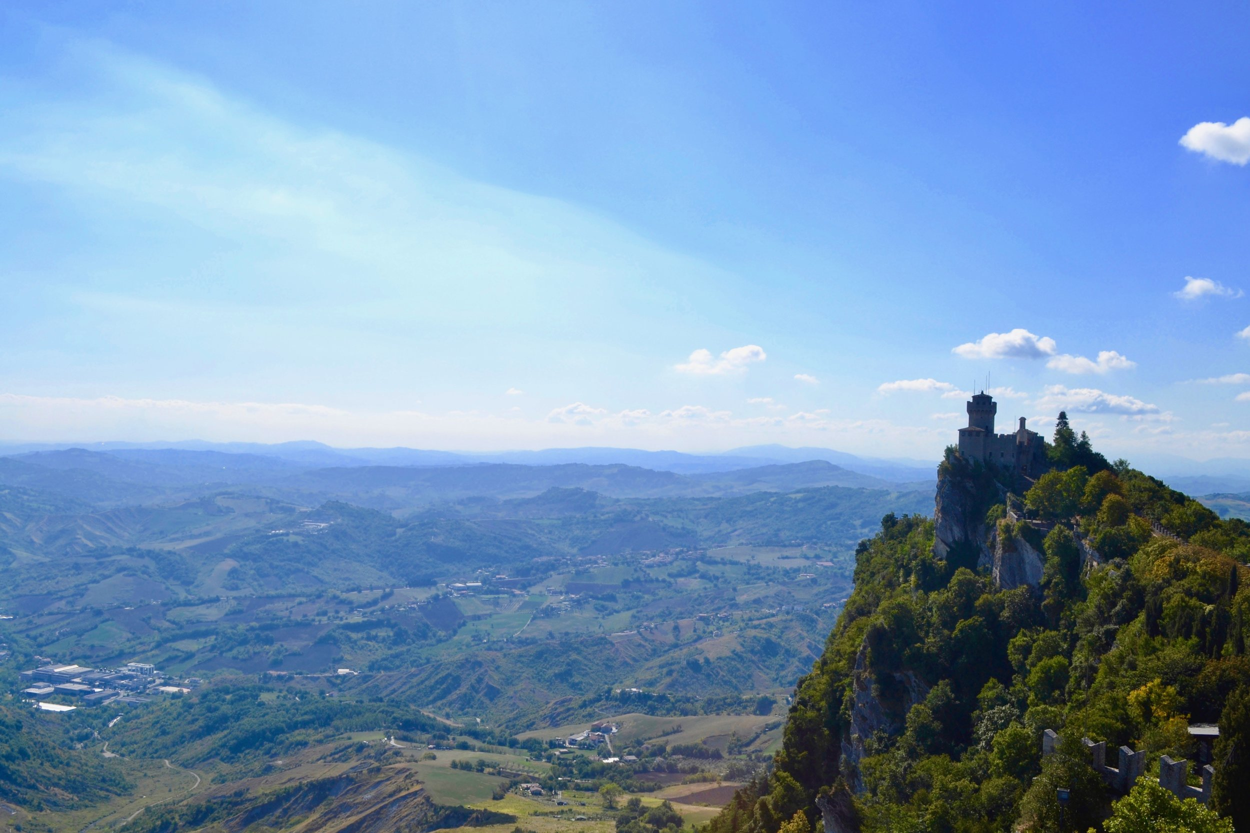 Cesta Tower, which is one of the three towers in San Marino