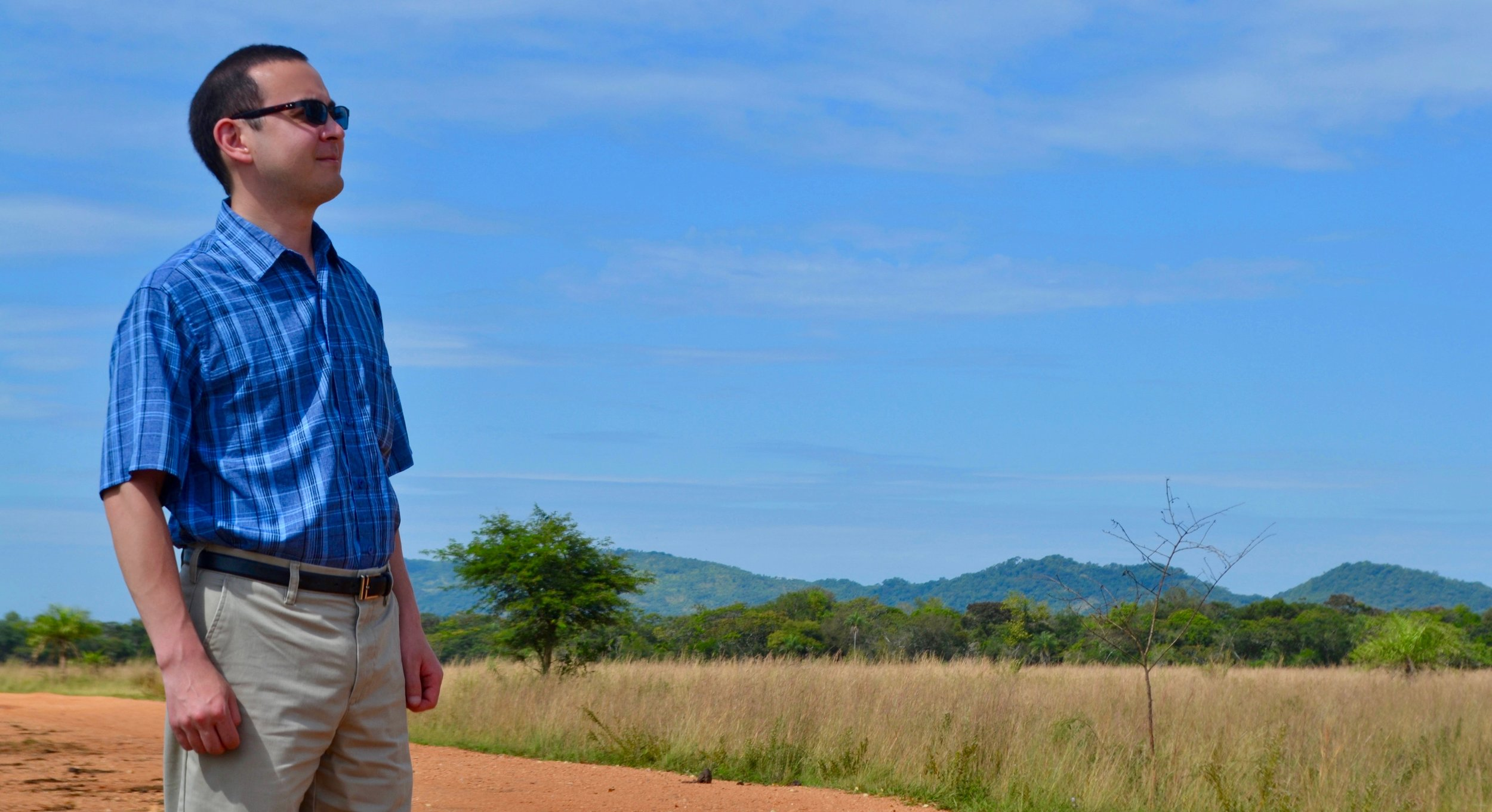 Admiring the beautiful landscape of rural Paraguay