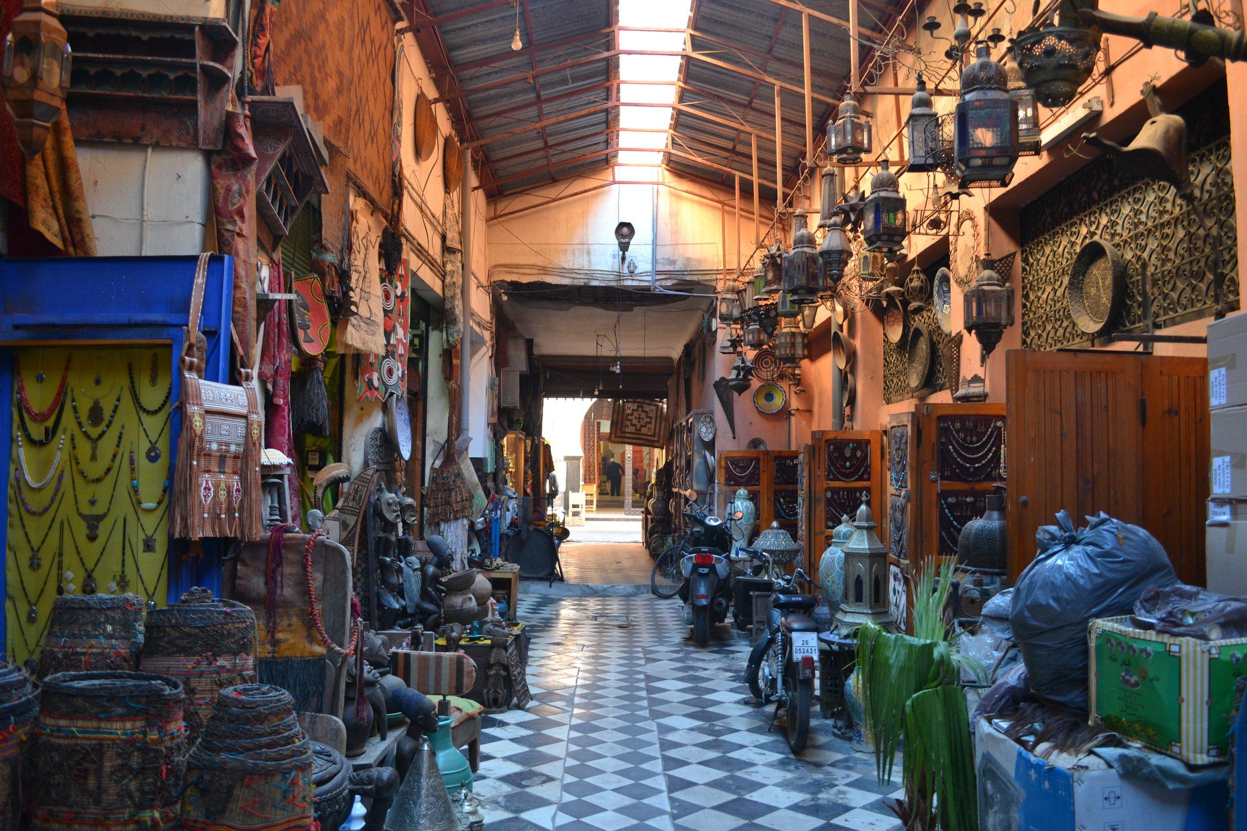 Inside the Medina of Marrakech