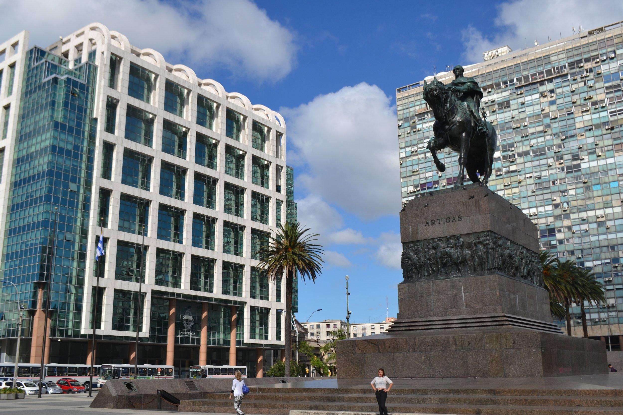 The monument to Jose Gervasio Artigas
