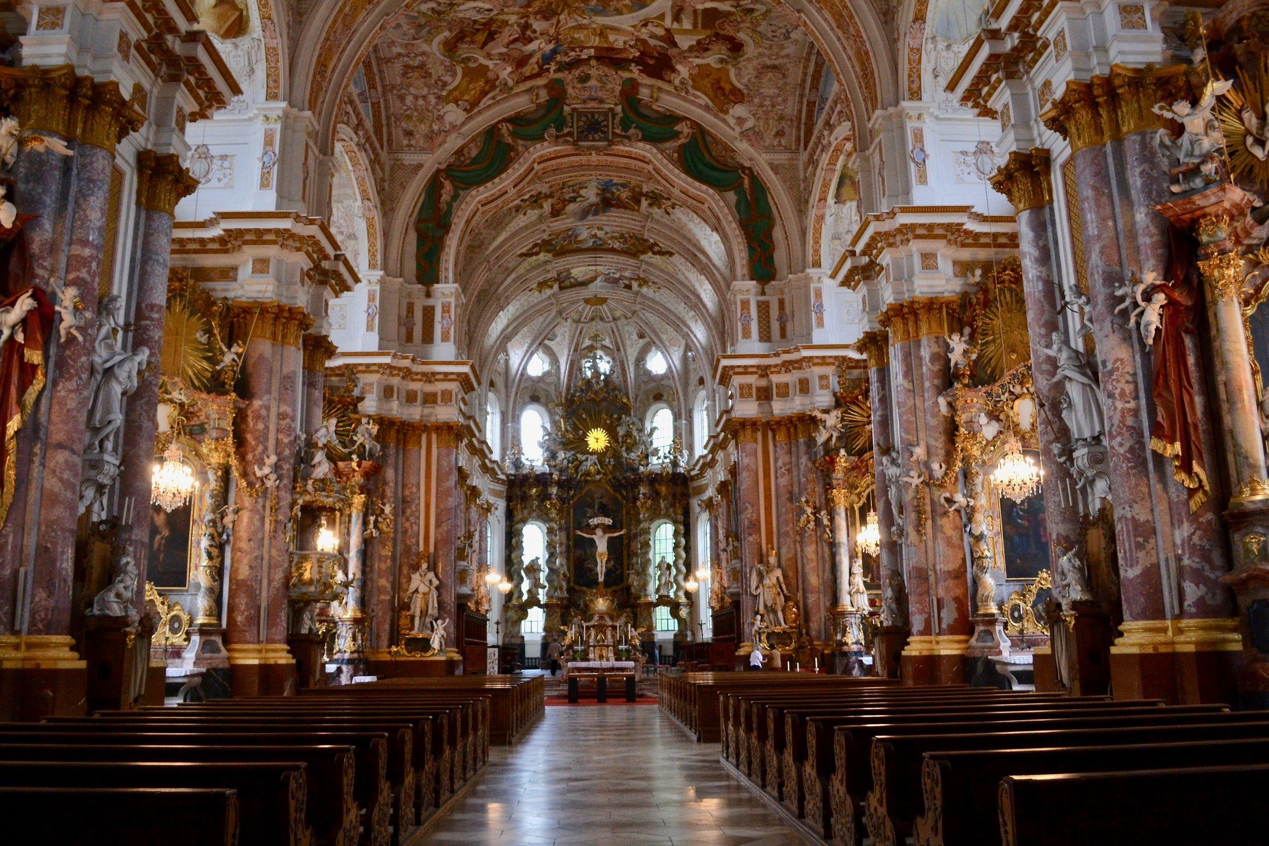 Interior of Fürstenfeld Abbey Church