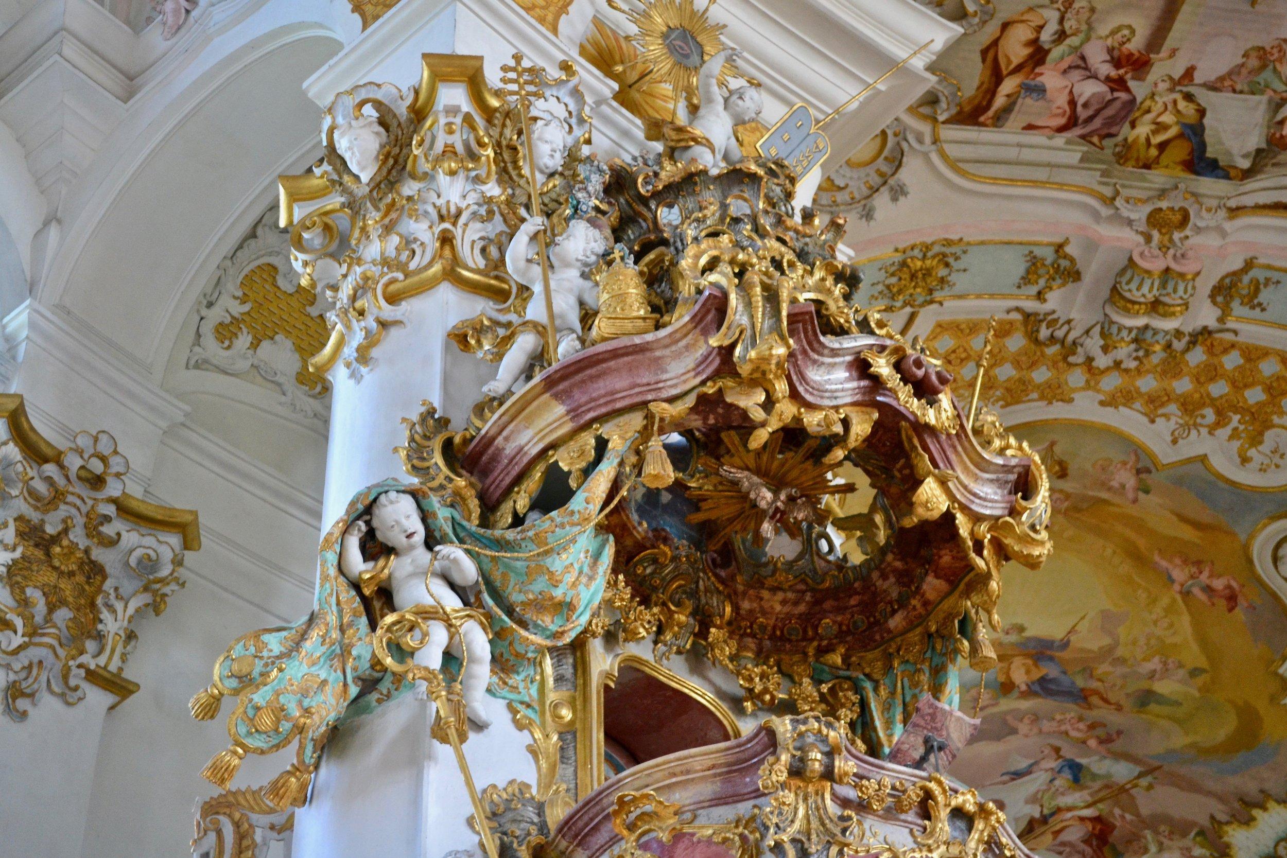 Wieskirche Pulpit