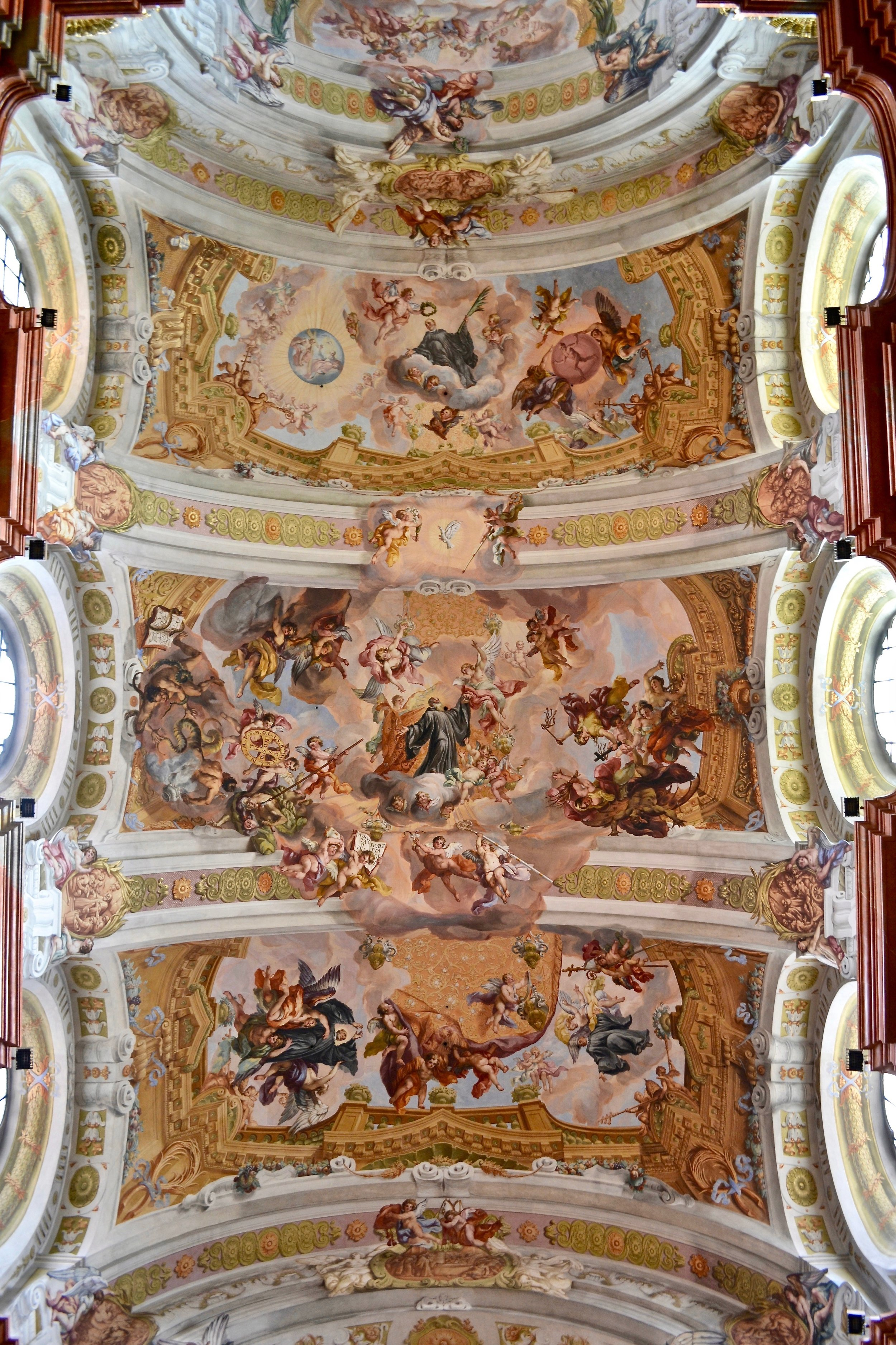 The Ceiling Fresco in the Abbey Church