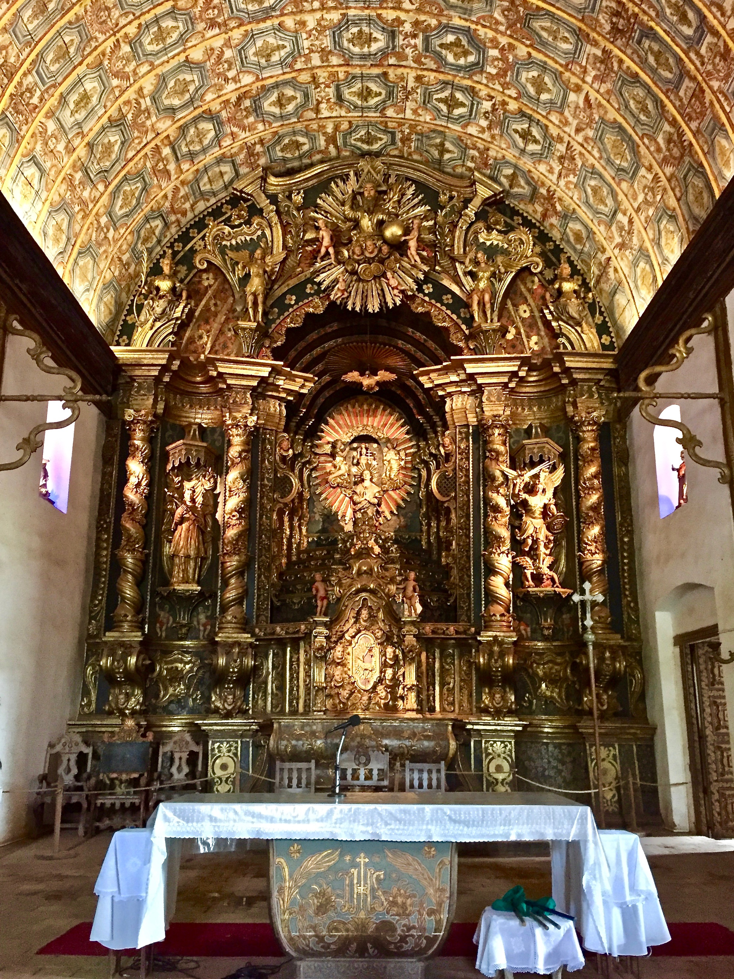 Church Altar in Yaguarón