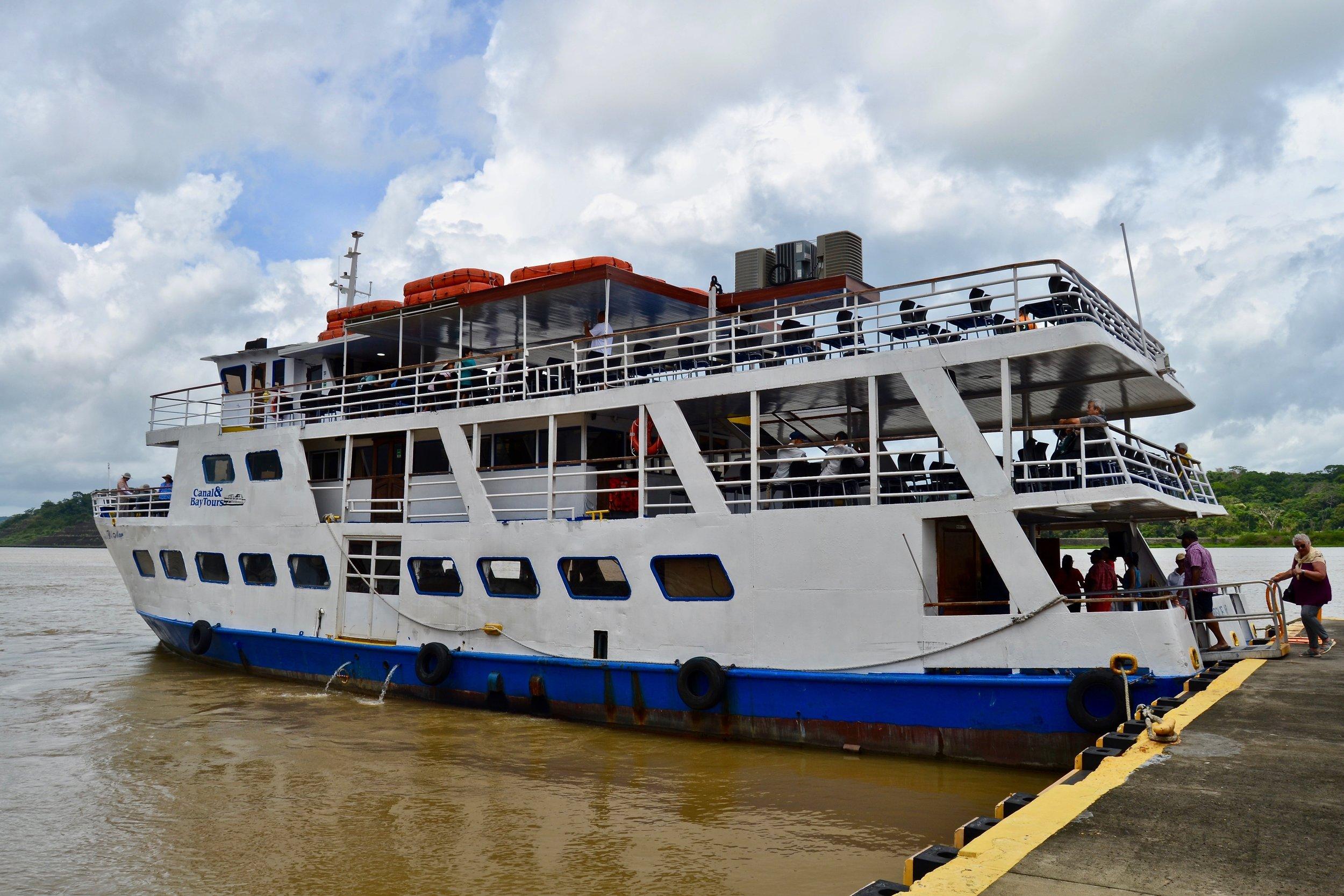 The Panama Canal Tour Ship