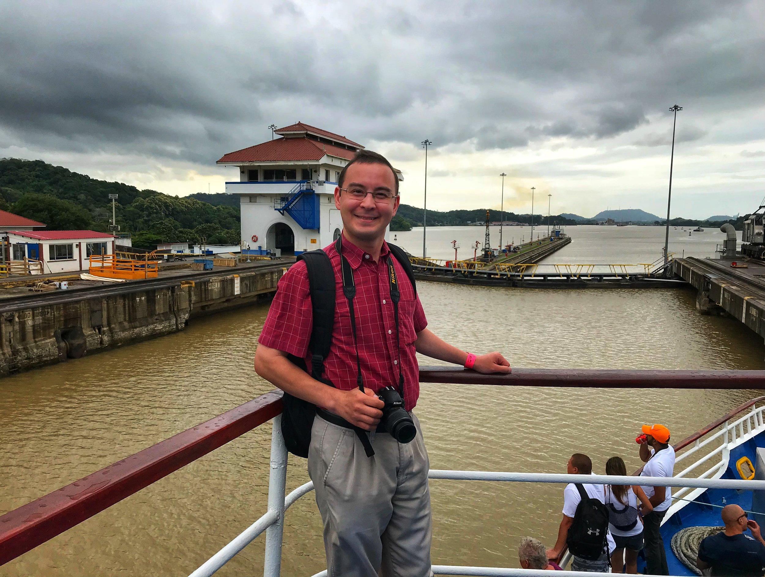 Panama Canal Selfie