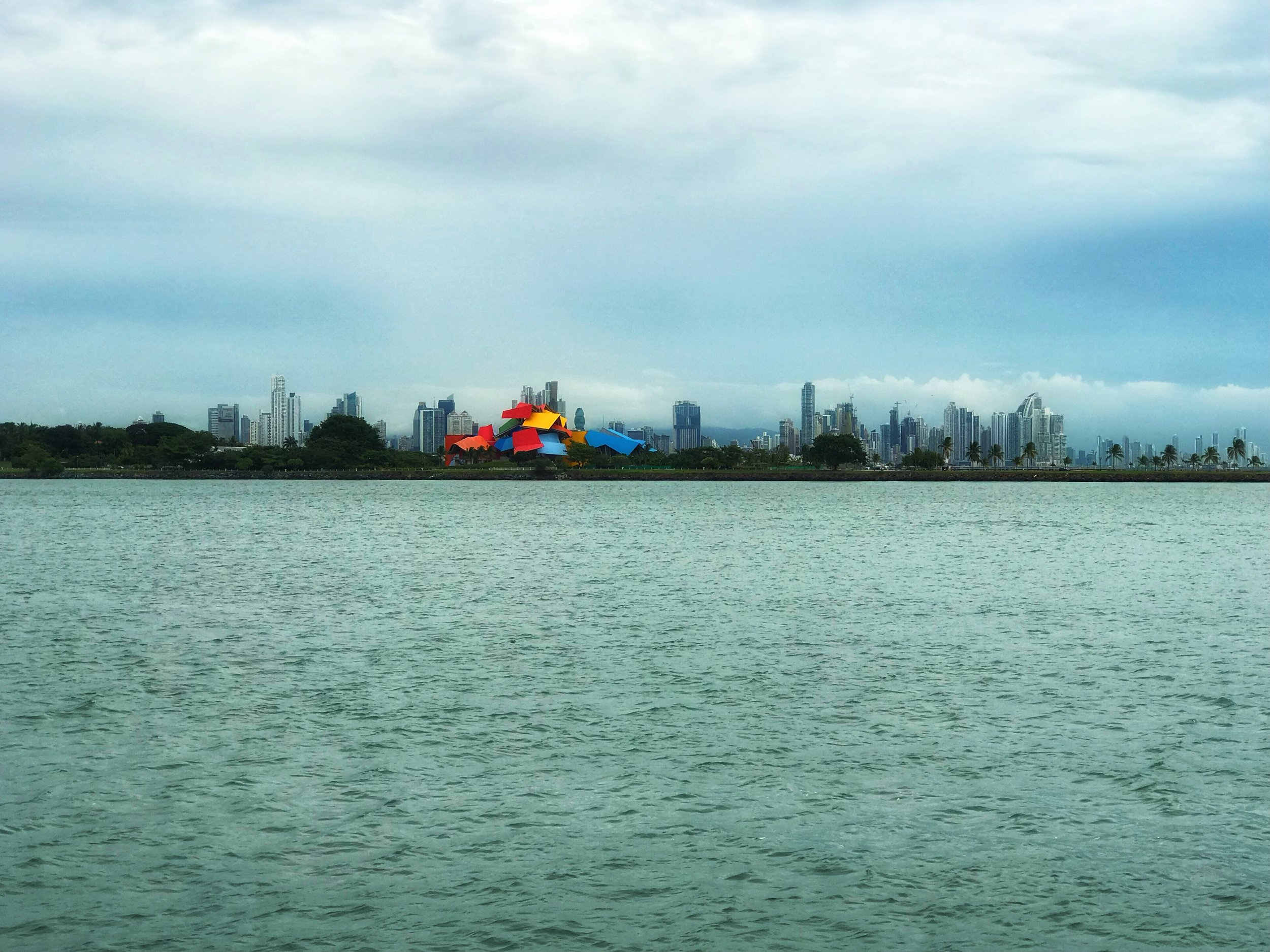 View of Panama City with the Biomuseum