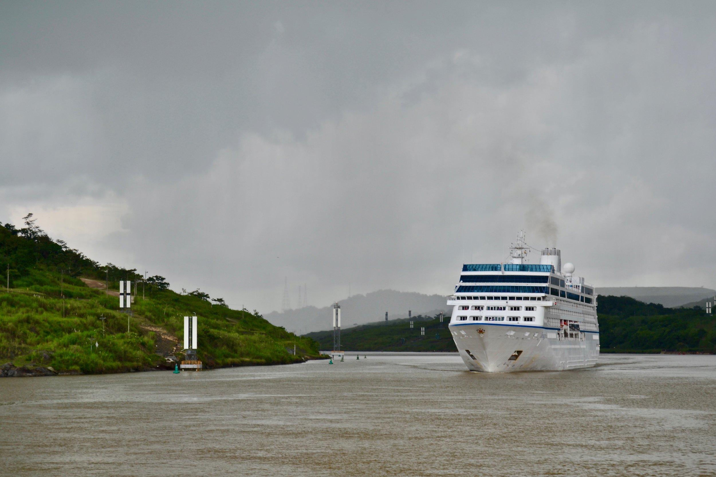 Cruise Ship on the Panama Canal