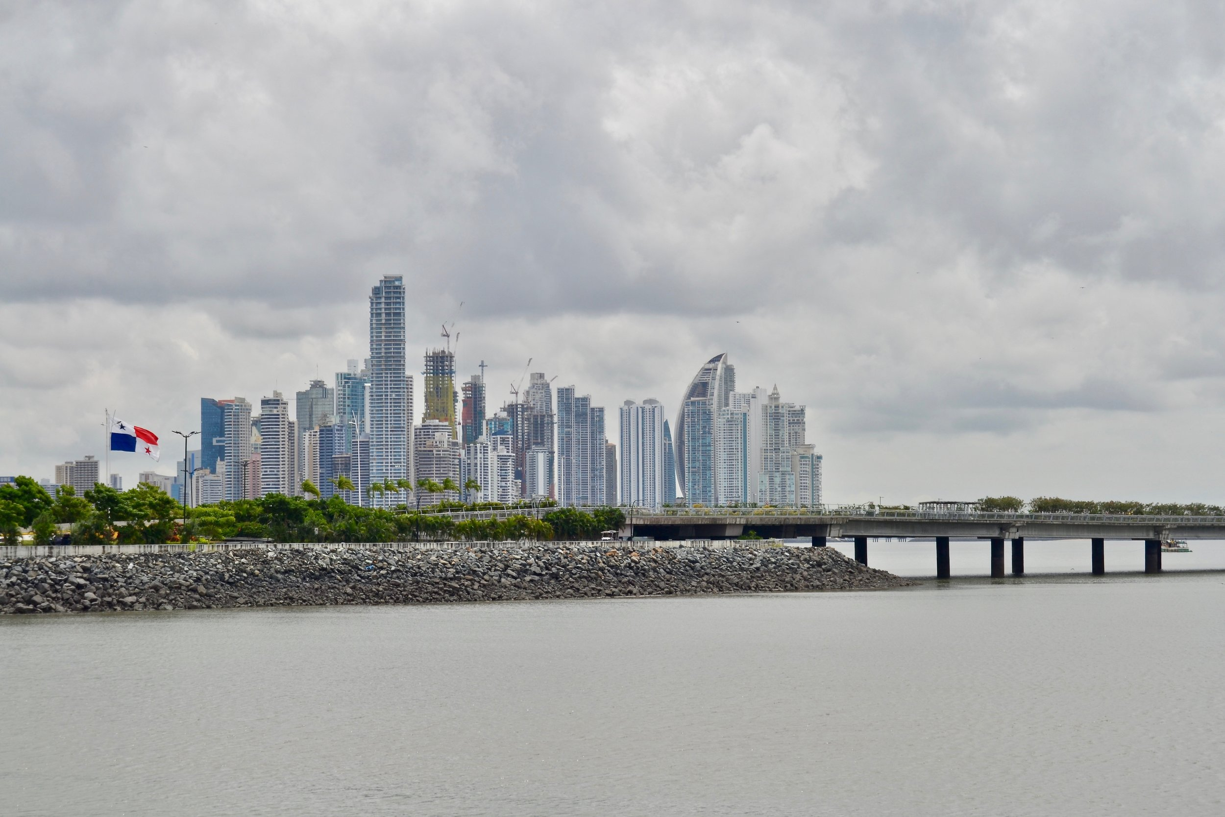A beautiful view of a small part of the Panama City skyline